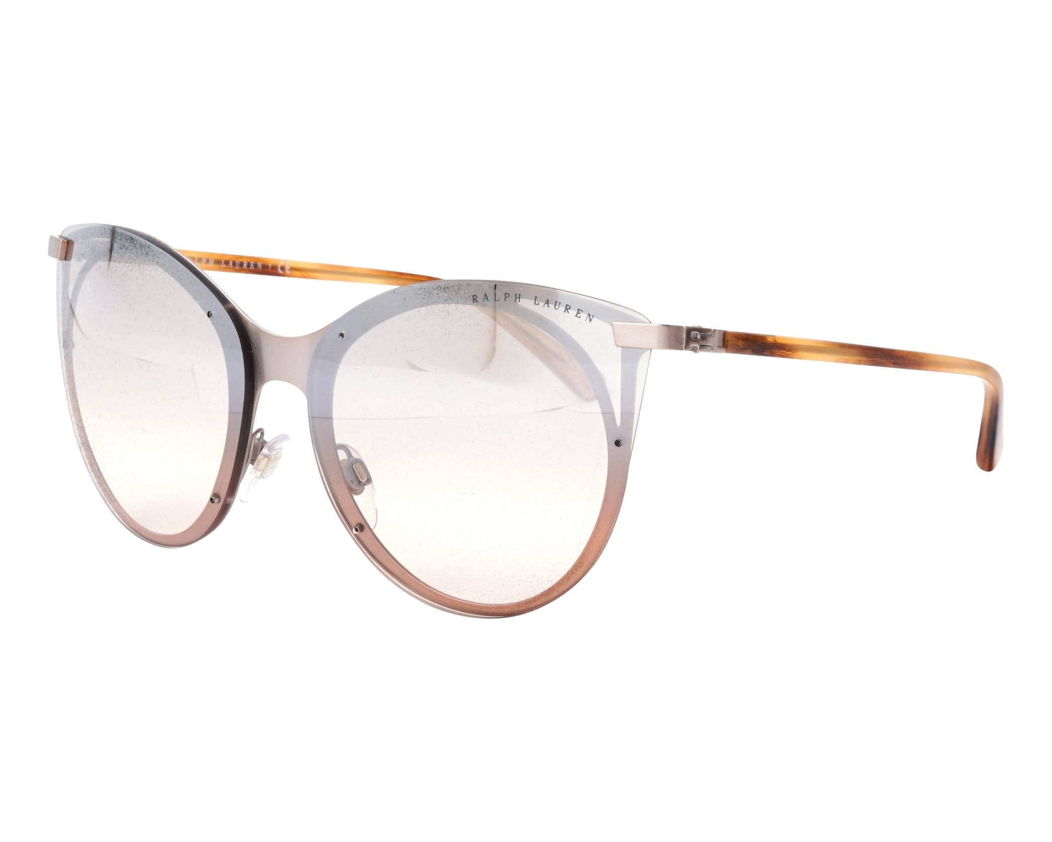 91a3a2a9f39e Sunglasses Ralph Lauren RL-7059 90948Z 63-14 Silver Brown profile view