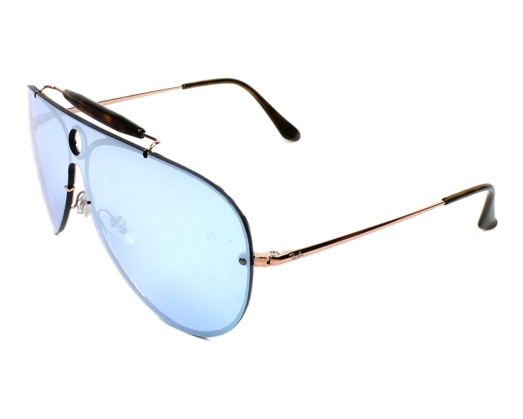 Ray-Ban Sunglasses RB-3581-N 90351U Gold Copper with Blue