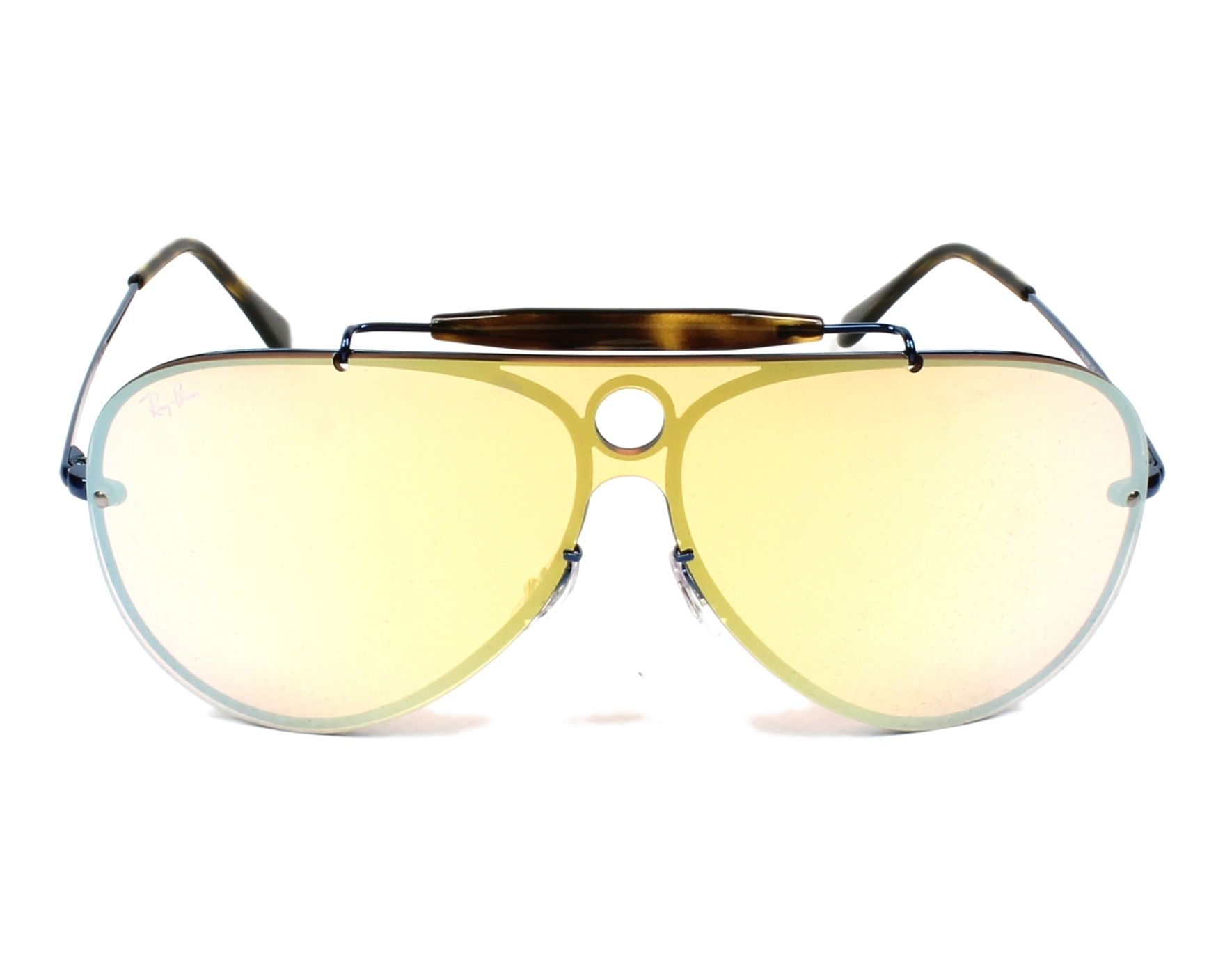 4b2875eb989 thumbnail Sunglasses Ray-Ban RB-3581-N 90387J - Blue Havana front view
