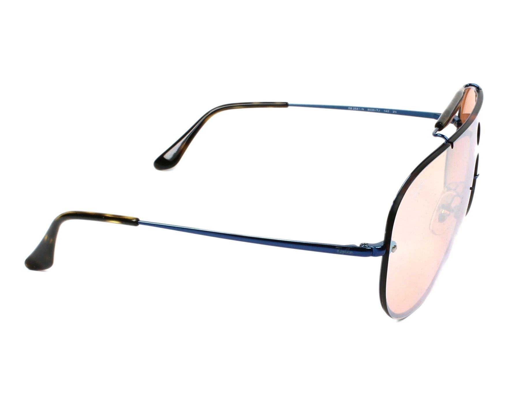 70d2598616f thumbnail Sunglasses Ray-Ban RB-3581-N 90387J - Blue Havana side view