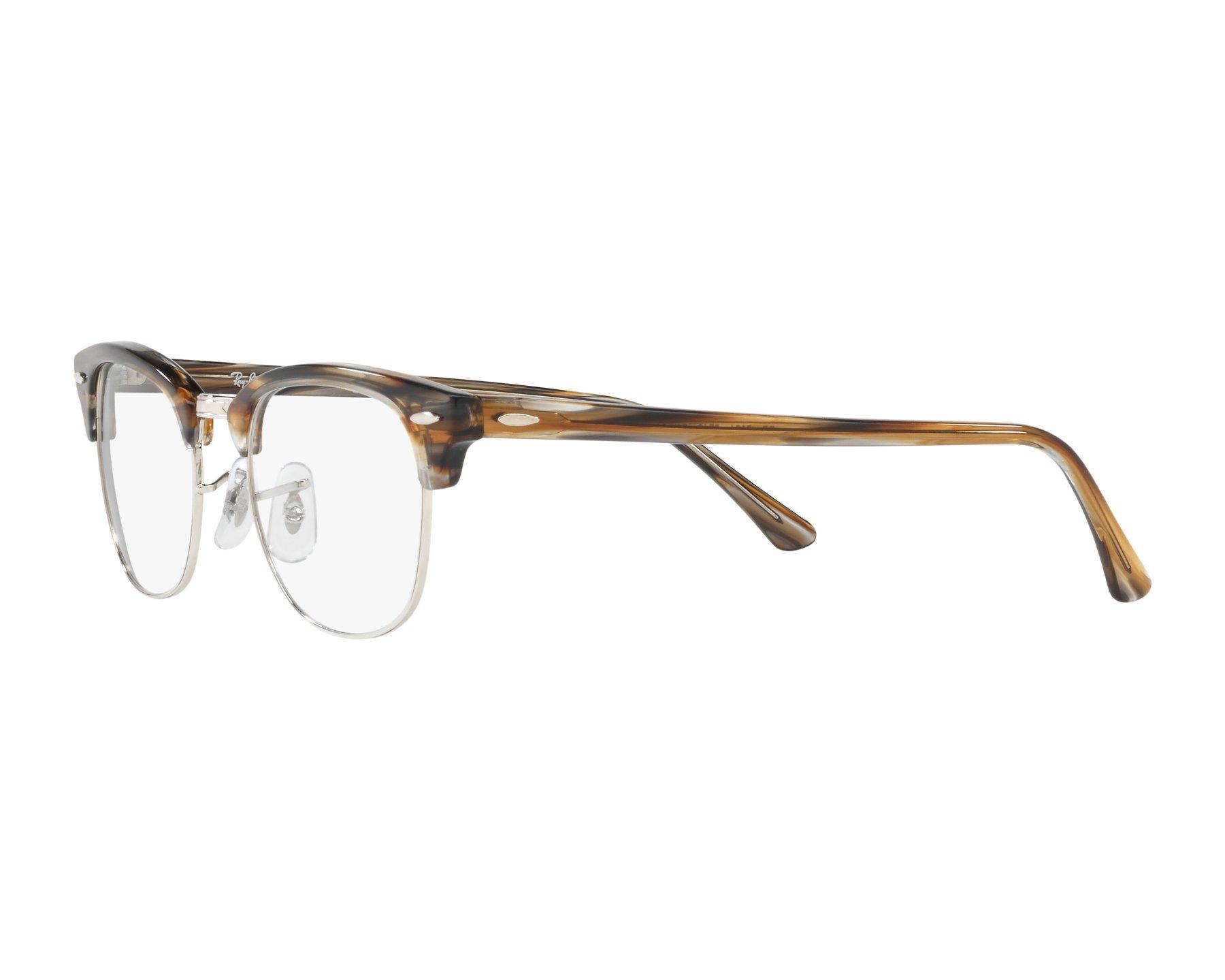 5ca42cda744 eyeglasses Ray-Ban RX-5154 5749 49-21 Brown Silver 360 degree view