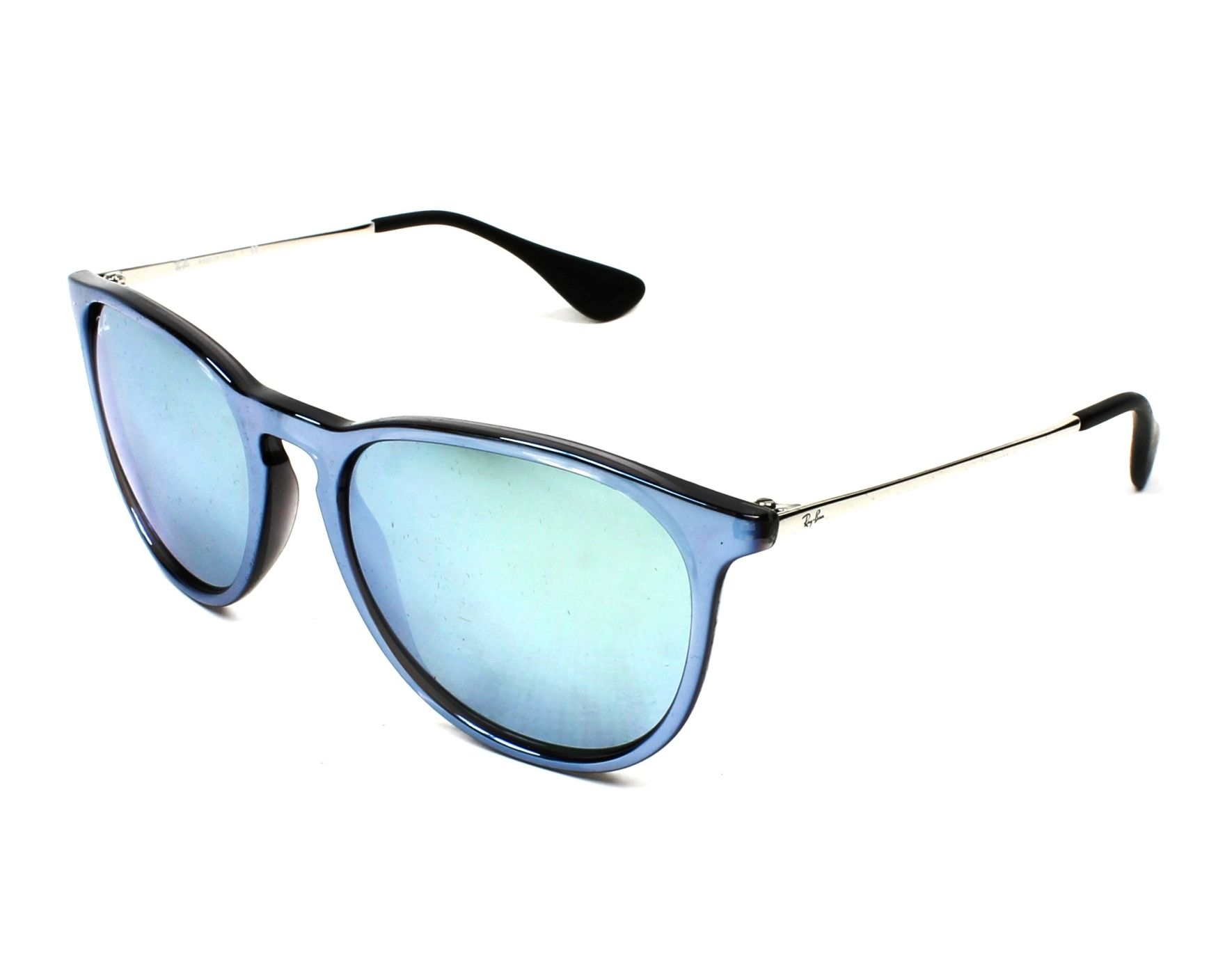 5946fd13bc1 Sunglasses Ray-Ban RB-4171 631930 54-17 Blue Silver profile view