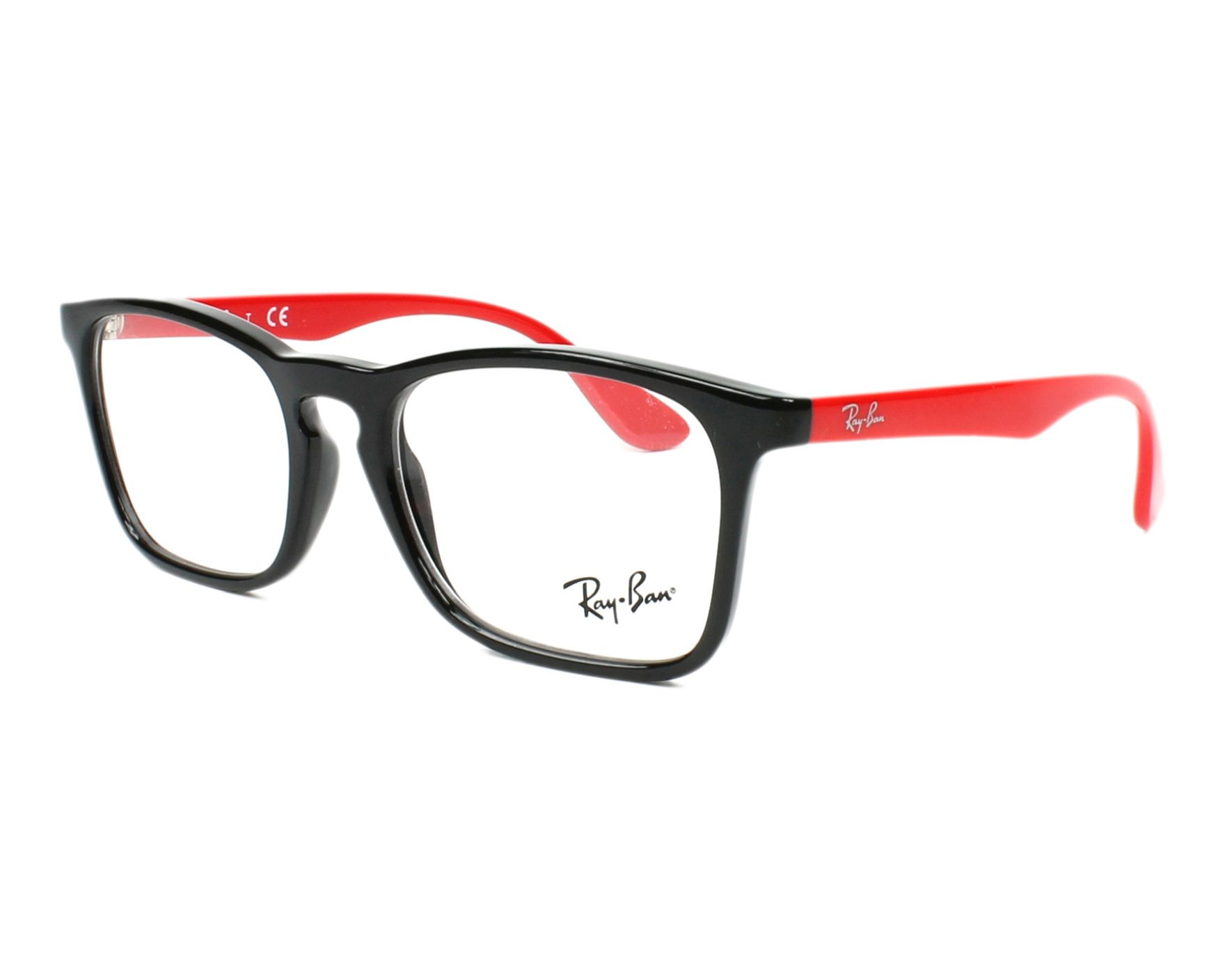 05fa8571d5a184 eyeglasses Ray-Ban RY-1553 3725 - Black Red profile view