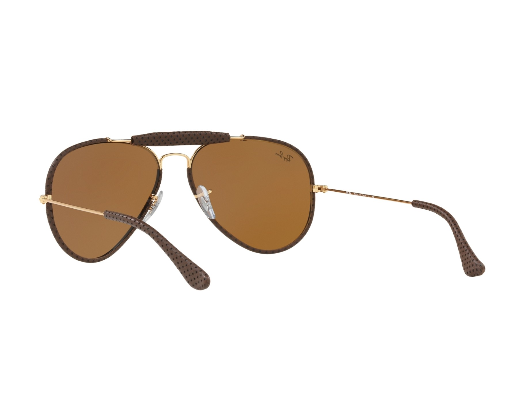 71853249dc58e Sunglasses Ray-Ban RB-3422-Q 9041 - Brown Gold 360 degree view