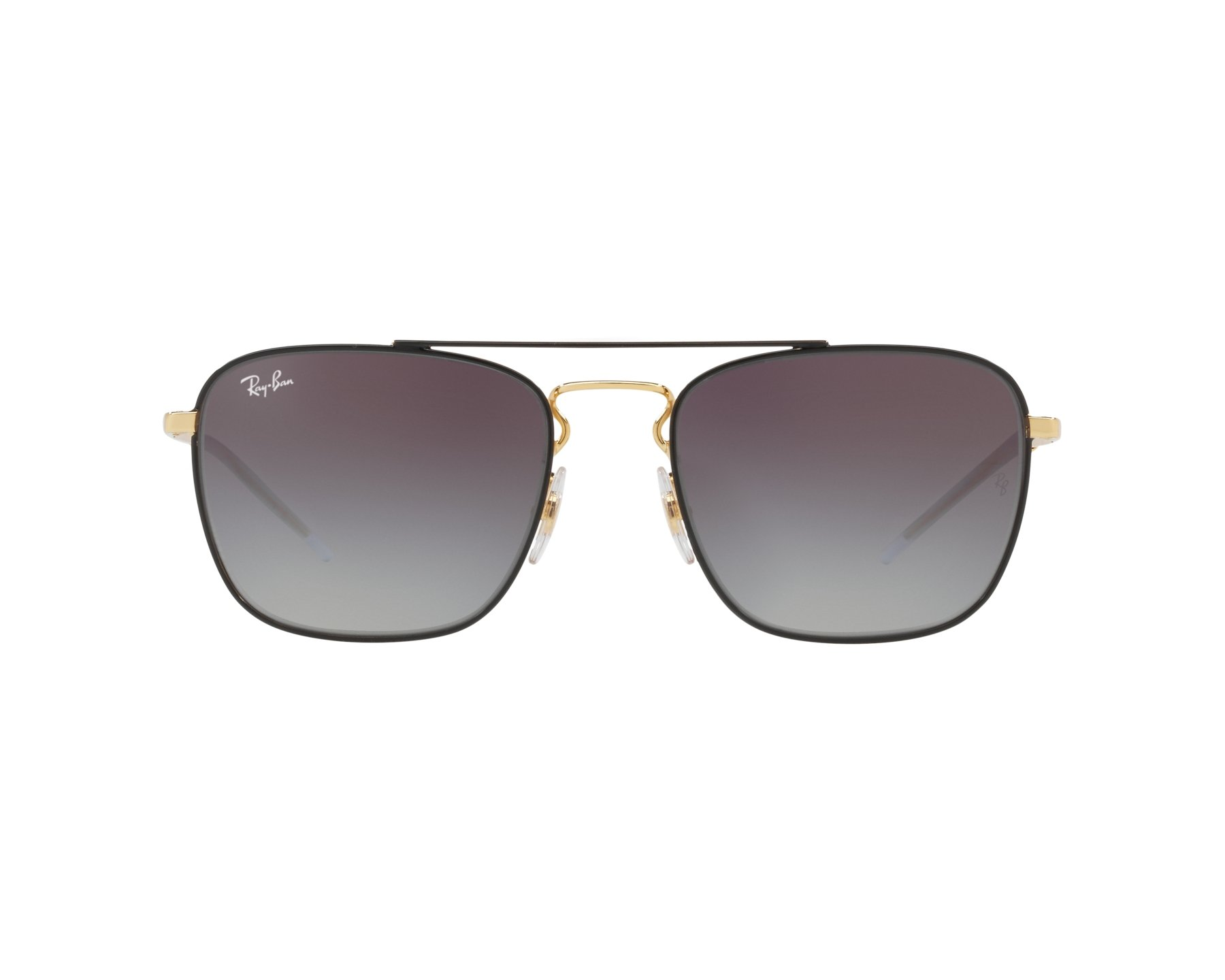 148a5e550dc Sunglasses Ray-Ban RB-3588 90548G 55-19 Black Gold 360 degree view