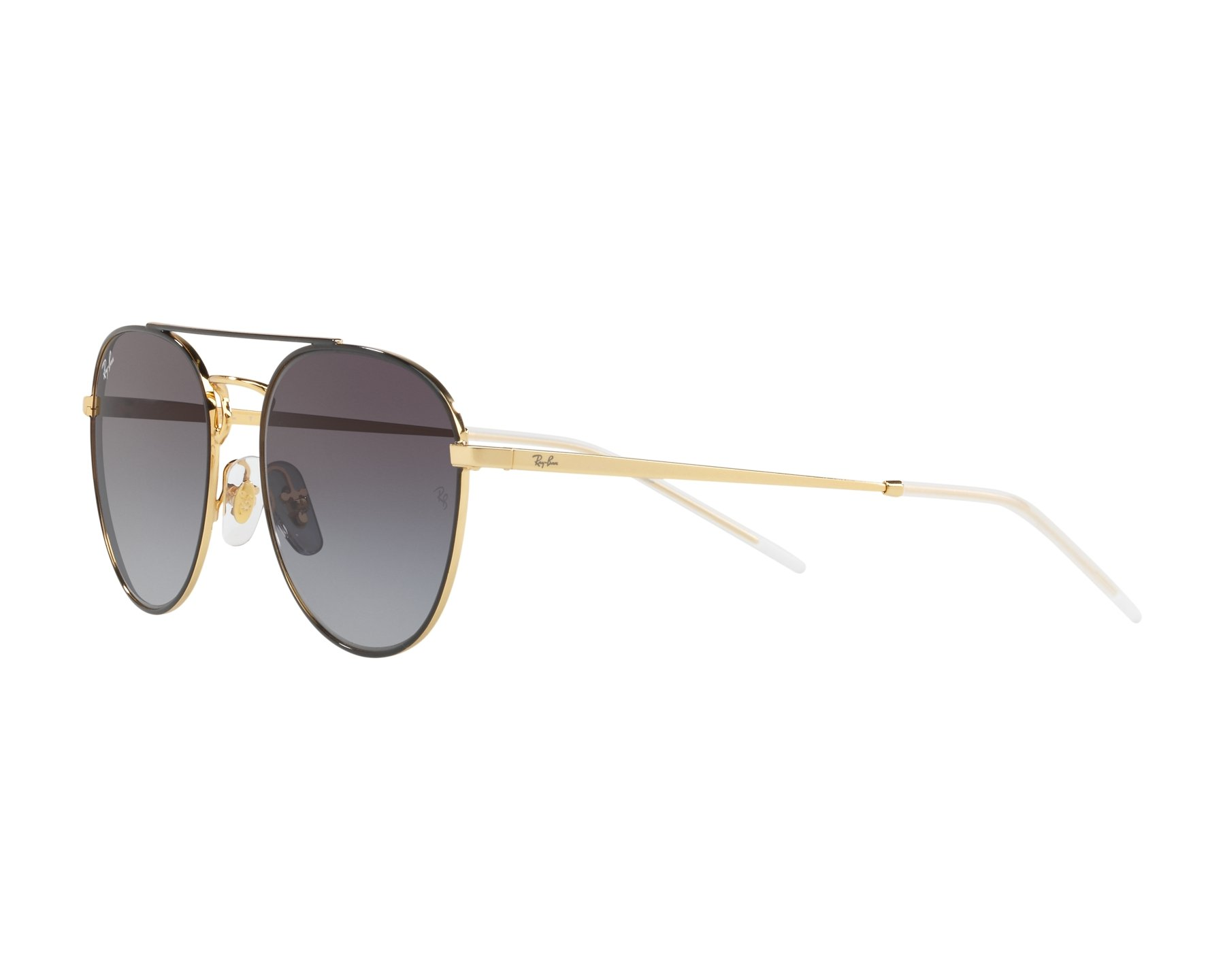 00374c7e59 Sunglasses Ray-Ban RB-3589 90548G 55-18 Black Gold 360 degree view