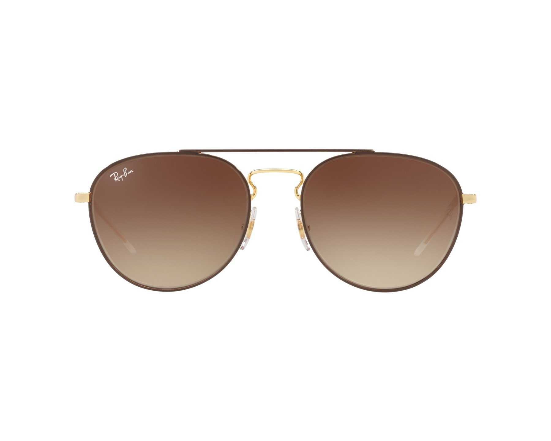 15105d6e209 Sunglasses Ray-Ban RB-3589 905513 55-18 Brown Gold 360 degree view
