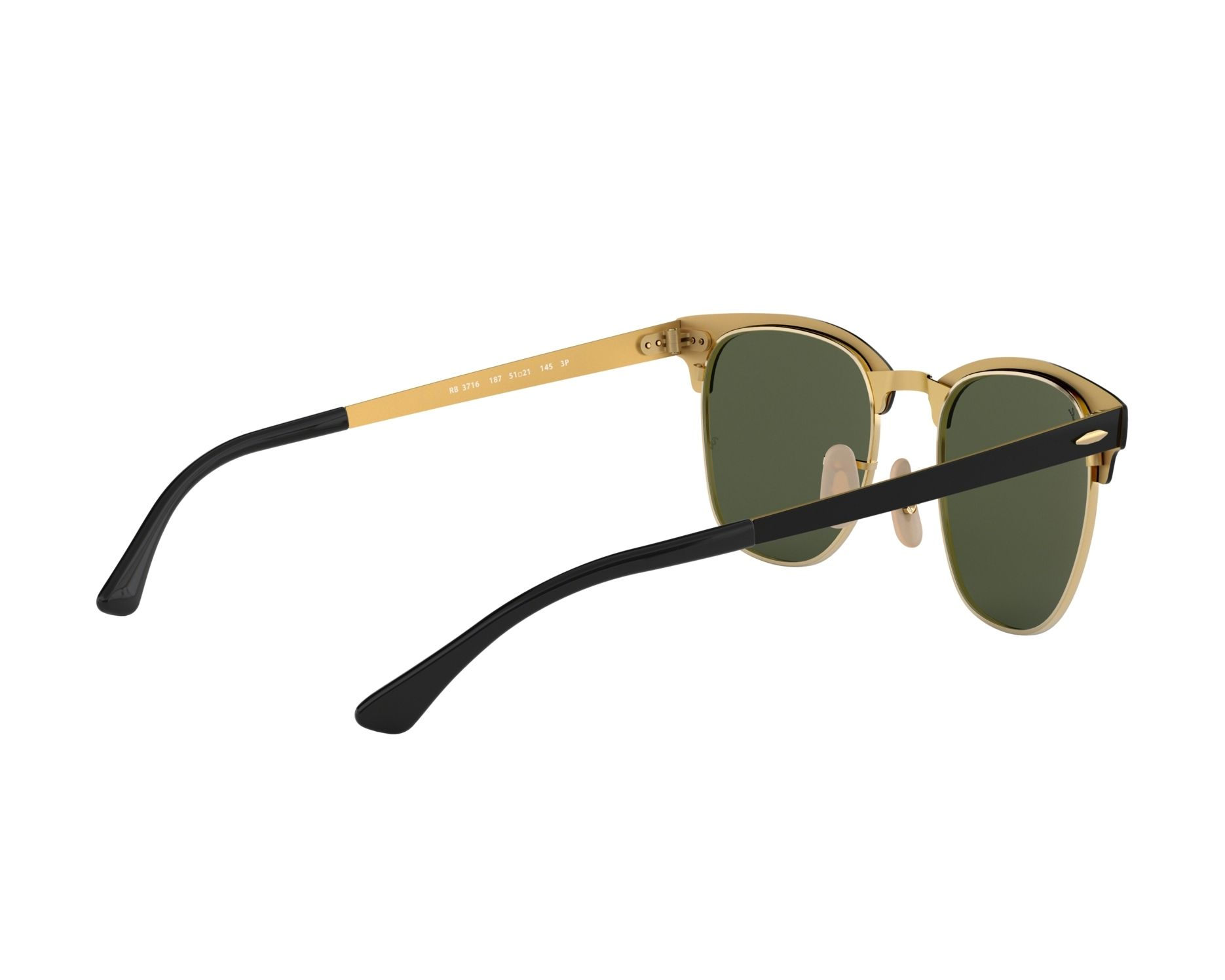 4fc841d1481 Sunglasses Ray-Ban RB-3716 187 - Black Gold 360 degree view 9