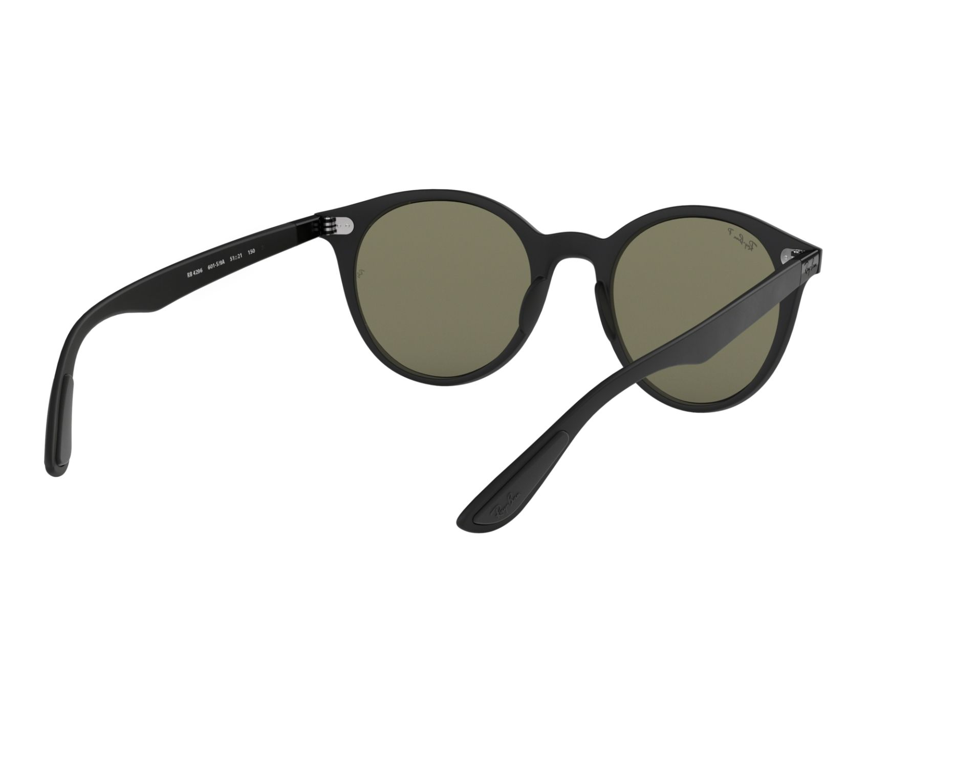 97ad6600d9 Sunglasses Ray-Ban RB-4296 601S9A 51-21 Black 360 degree view 8