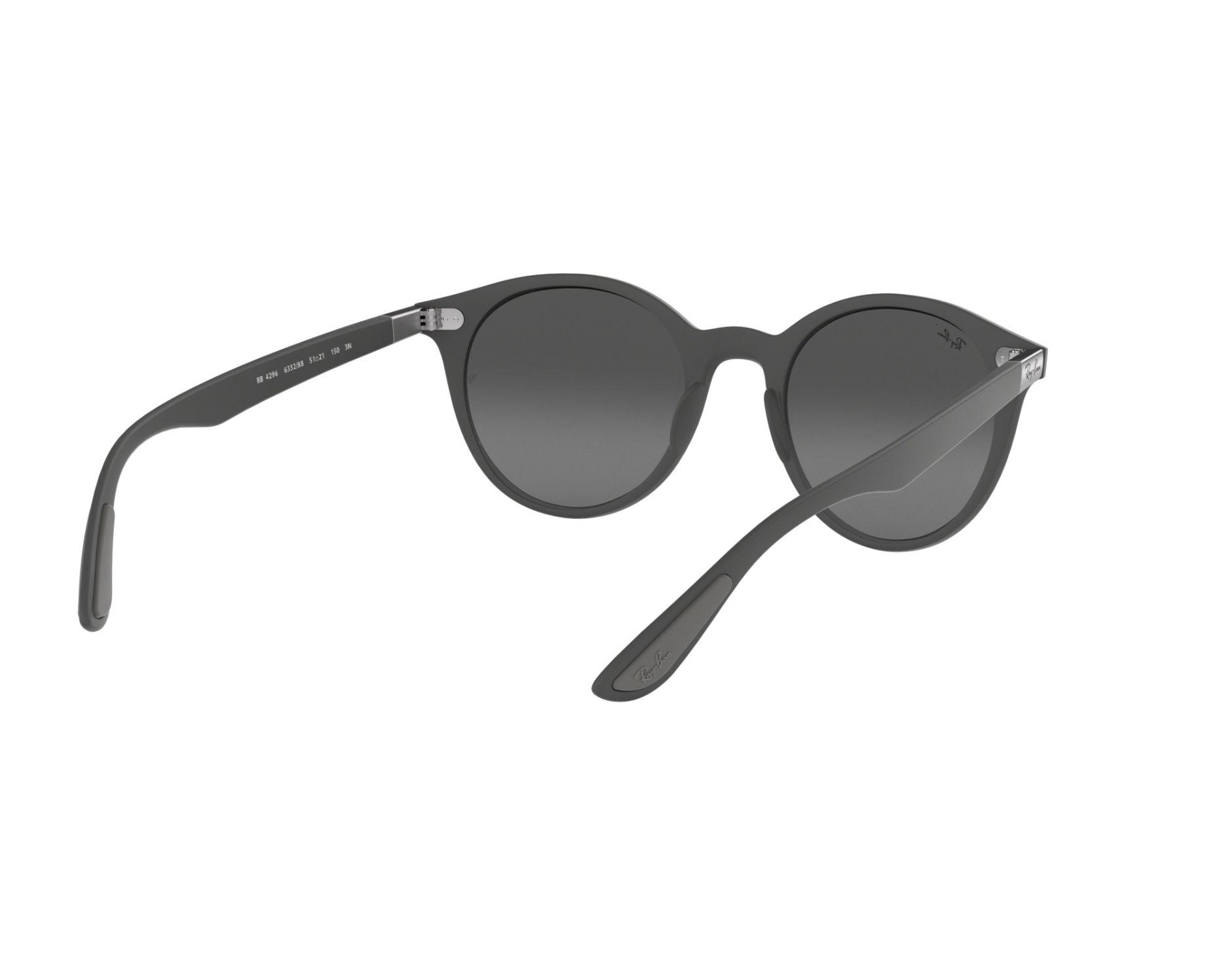 e7c1bb8a30 Sunglasses Ray-Ban RB-4296 633288 51-21 Grey 360 degree view 8