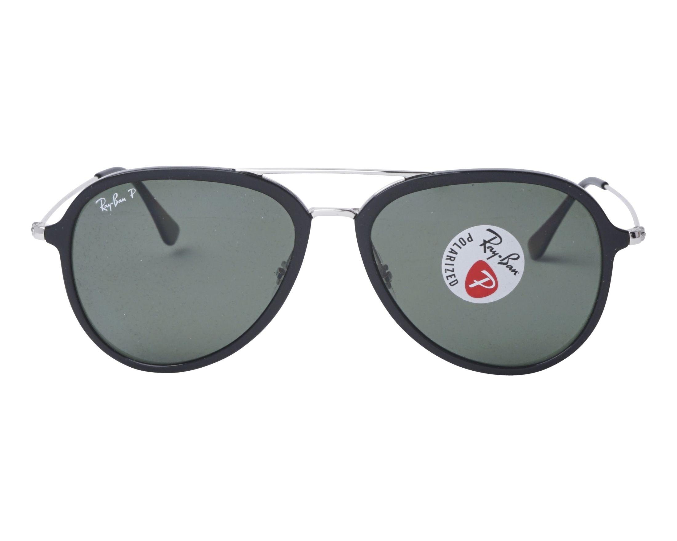 Sunglasses Ray-Ban RB-4298 601 9A 57-17 Black Silver front d95ca97da3