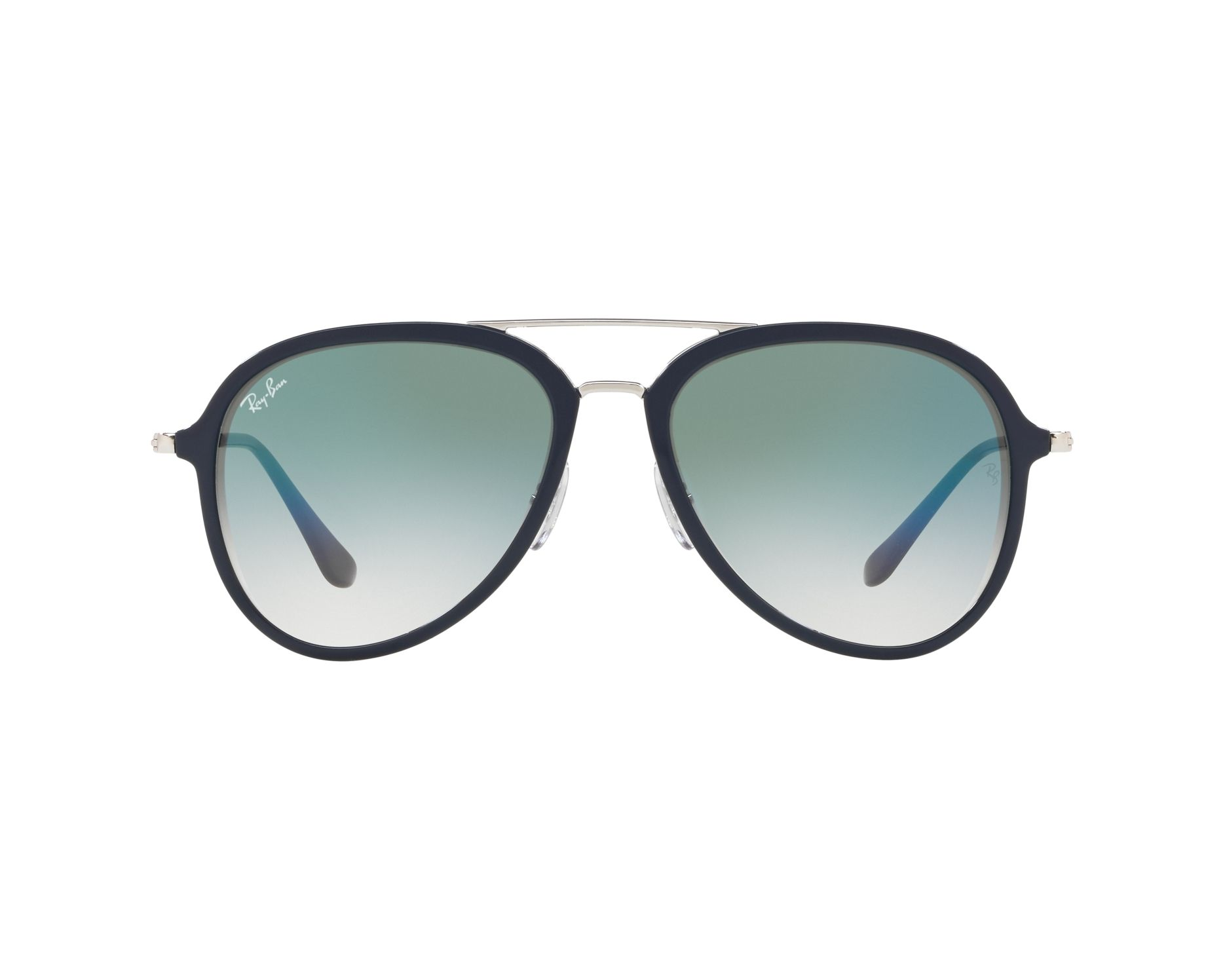 9182bc2b8a2 Sunglasses Ray-Ban RB-4298 63343A 57-17 Blue Silver 360 degree view