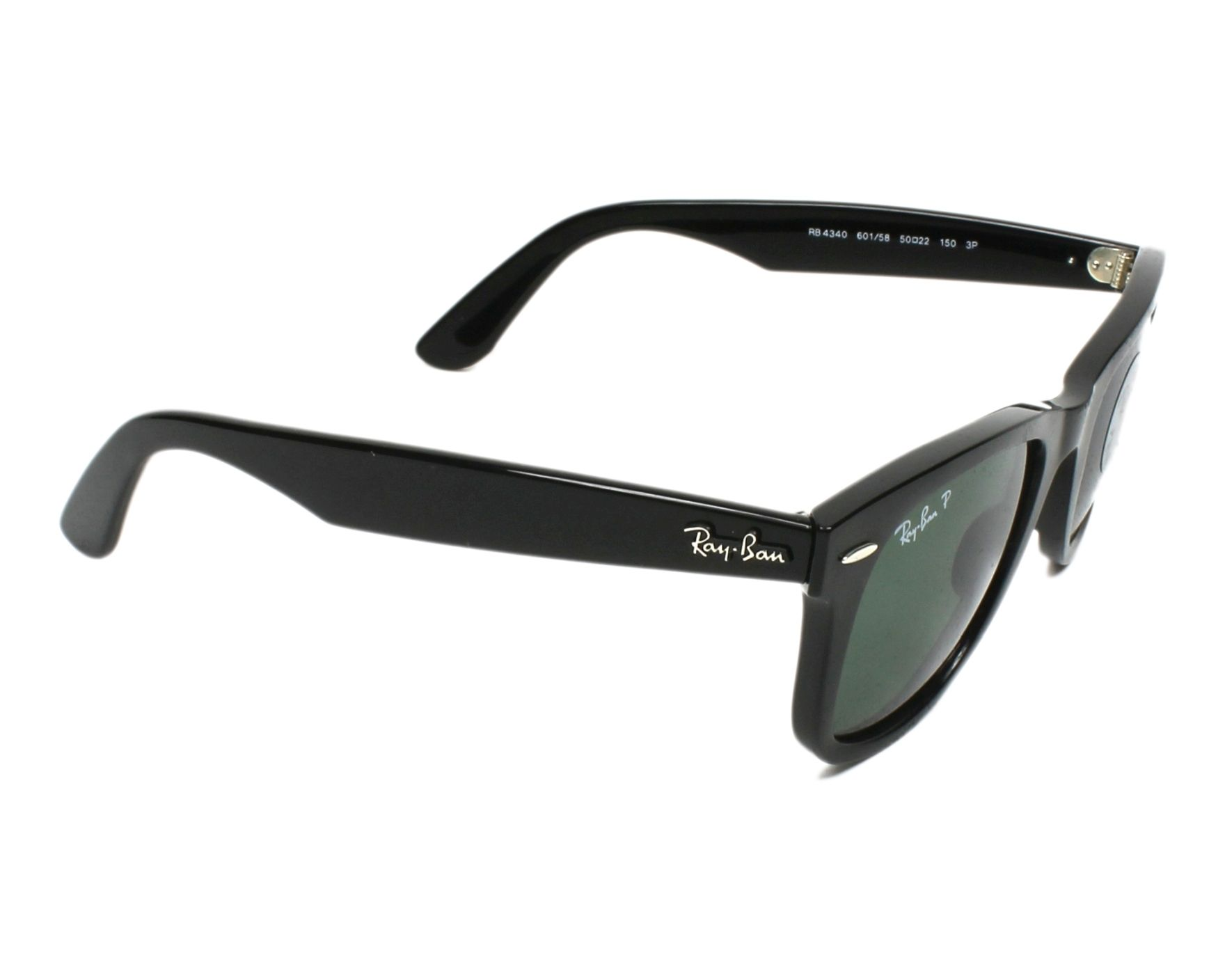 1b00ec549fd3b Sunglasses Ray-Ban RB-4340 601 58 50-22 Black side view