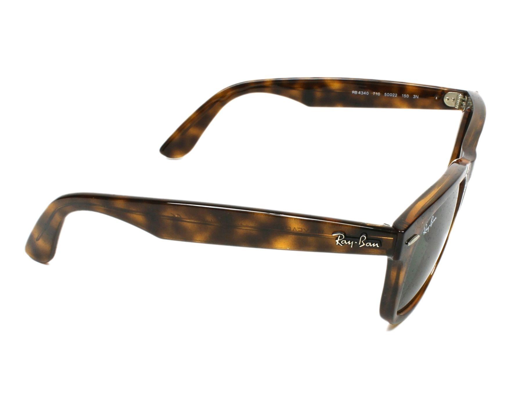 Sunglasses Ray-Ban RB-4340 710 50-22 Havana side view 93c15caad299