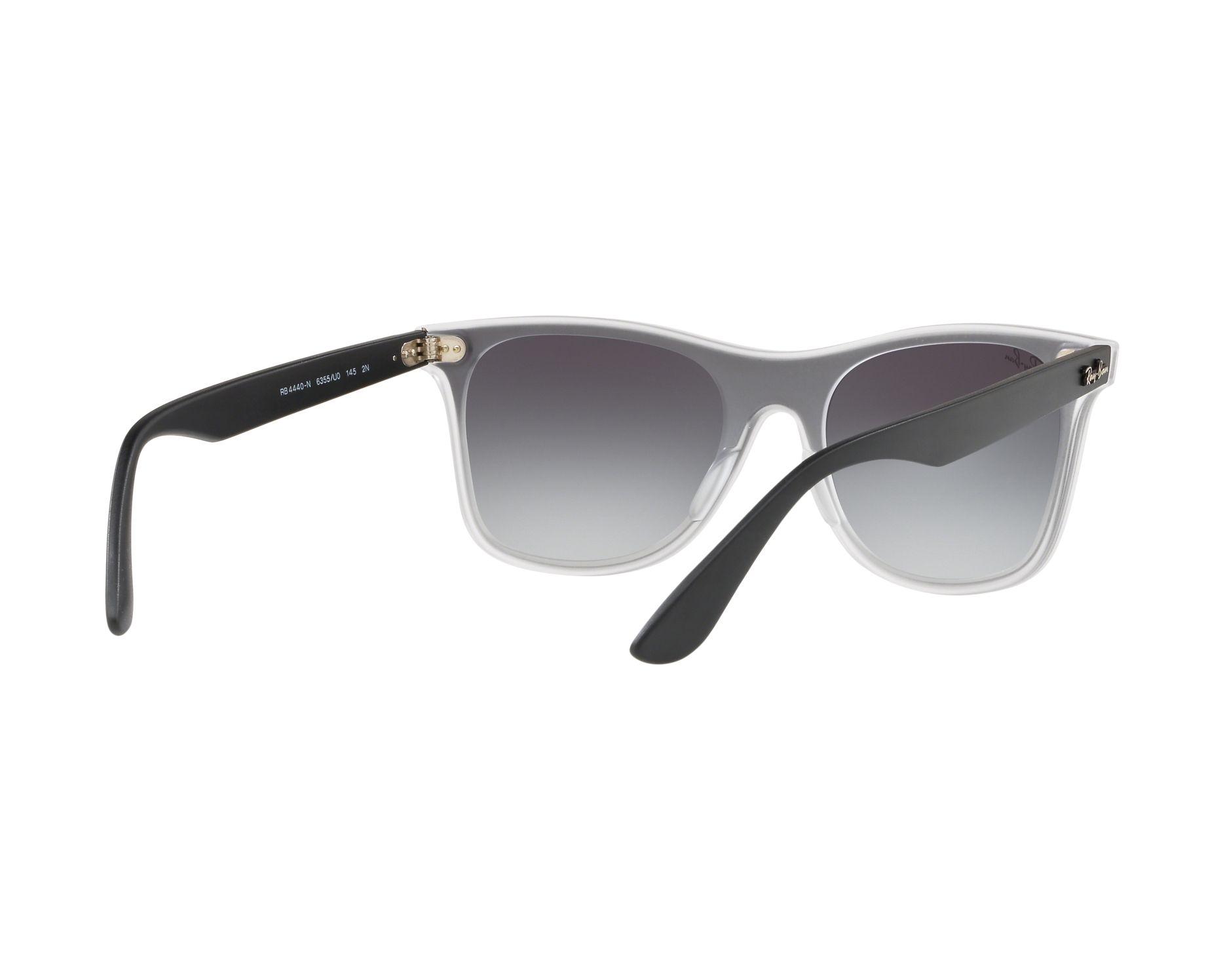 a86751f91ca Sunglasses Ray-Ban RB-4440-N 6355U0 55-18 Crystal Black 360