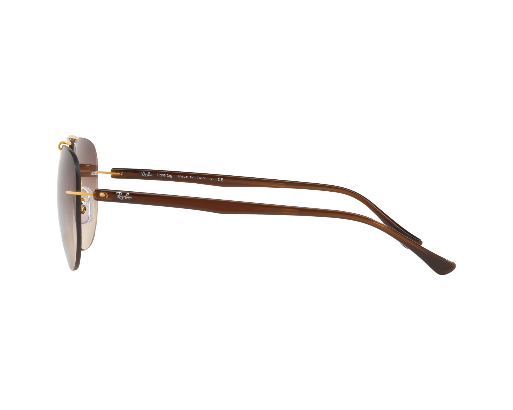 Sunglasses Ray-Ban RB-8059 157 13 57-16 Gold Brown 360 b2609754d36b