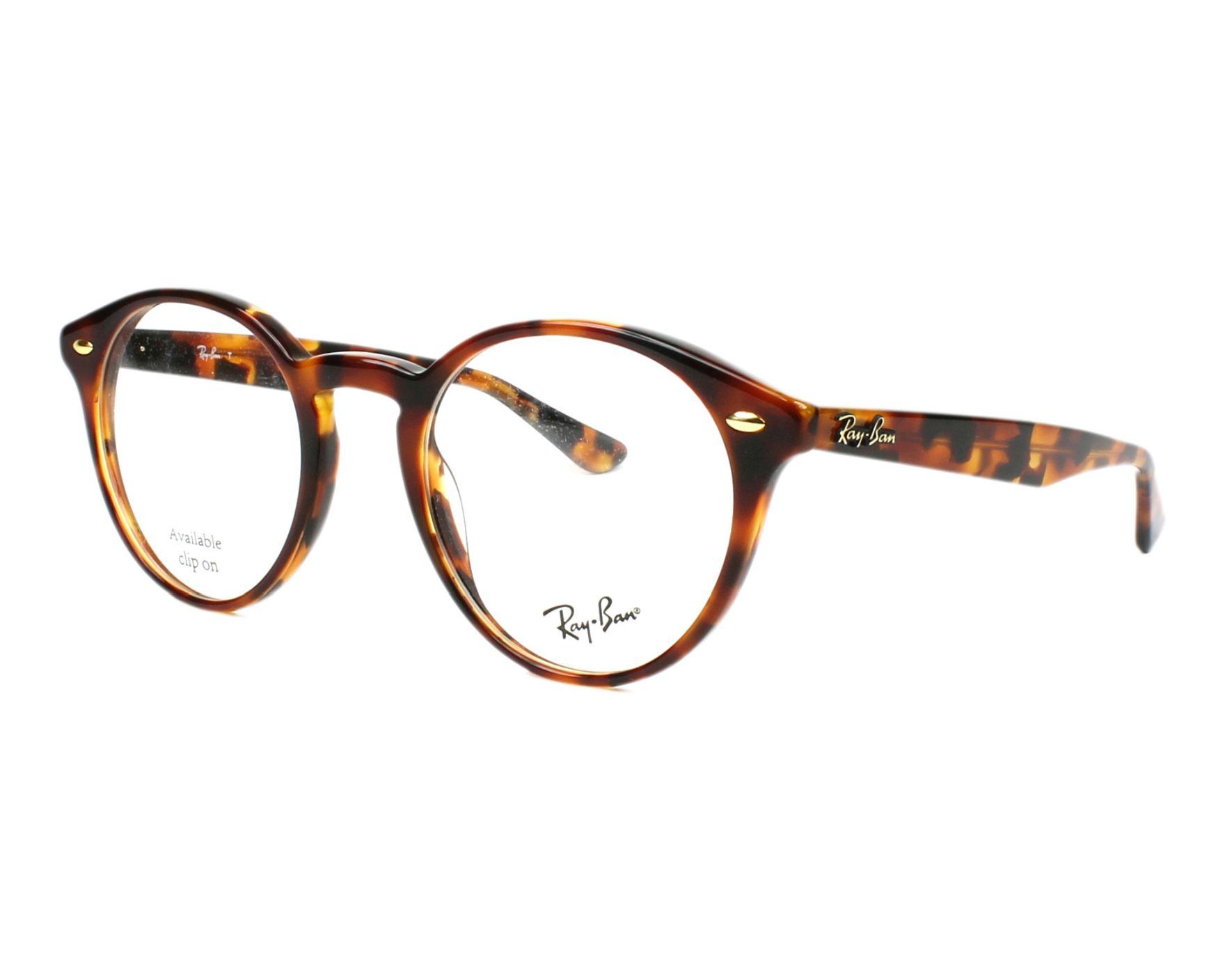 fdf9066056d eyeglasses Ray-Ban RX-2180-V 5675 47-21 Havana profile view