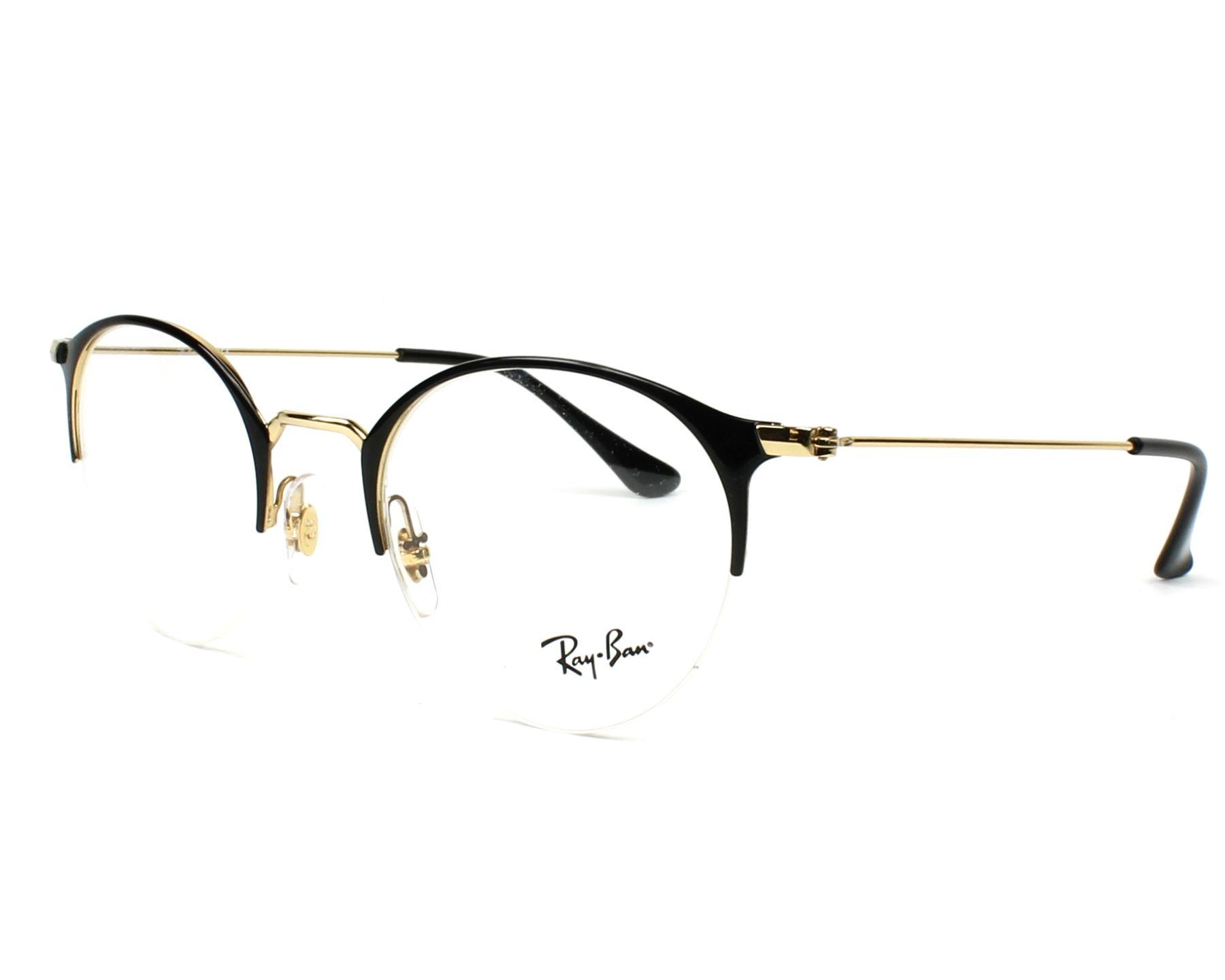 2499f07b78f eyeglasses Ray-Ban RX-3578-V 2890 48-22 Black Gold profile