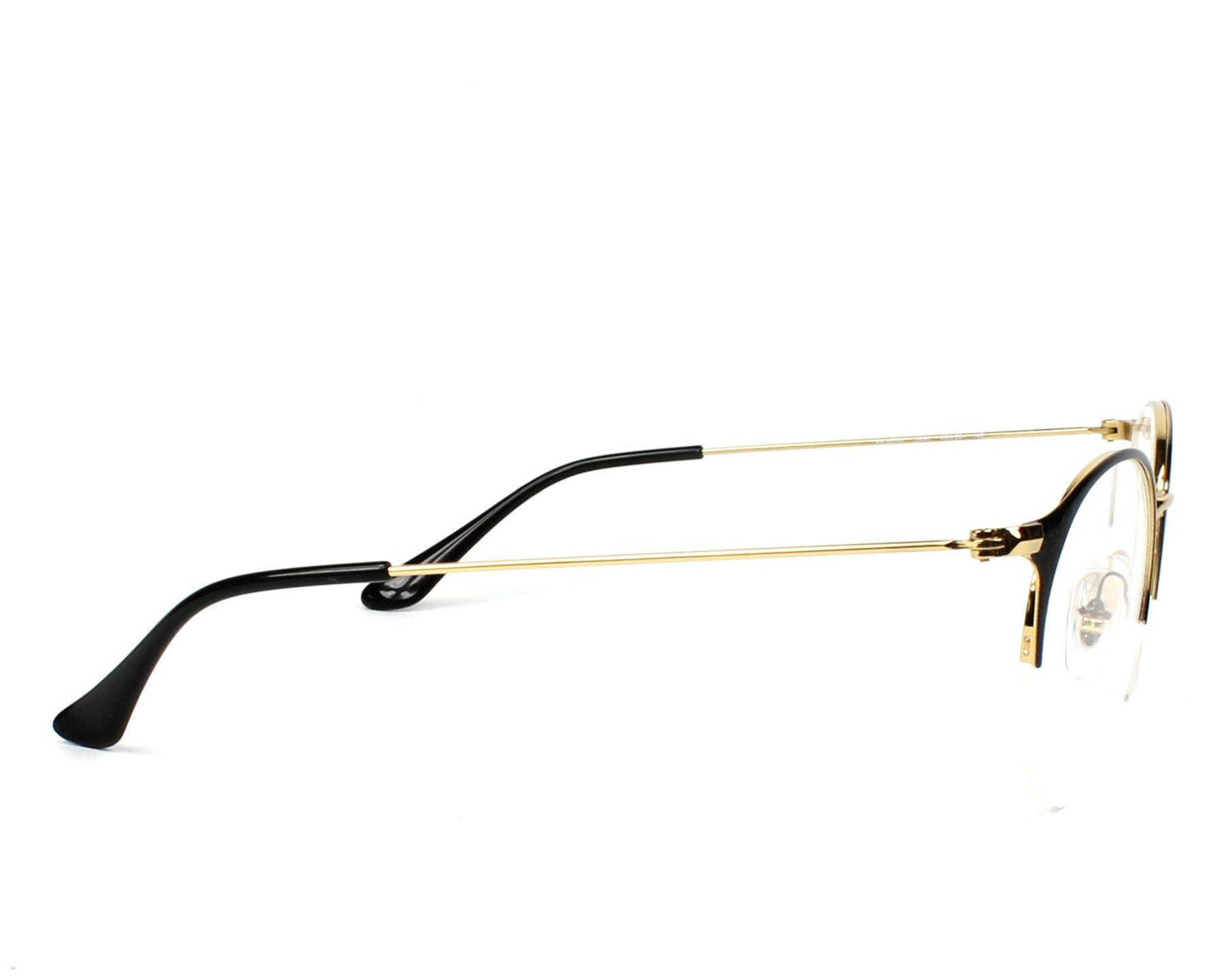 379d0a15233 eyeglasses Ray-Ban RX-3578-V 2890 48-22 Black Gold side
