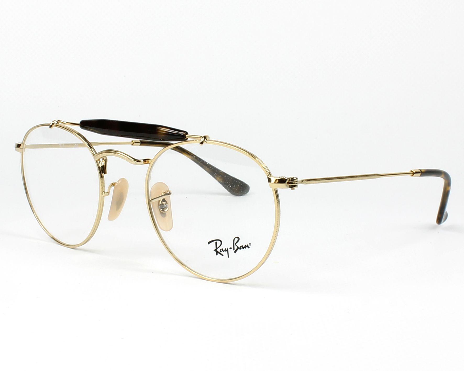 a0c73dc325cb20 eyeglasses Ray-Ban RX-3747-V 2500 47-21 Gold Havana profile