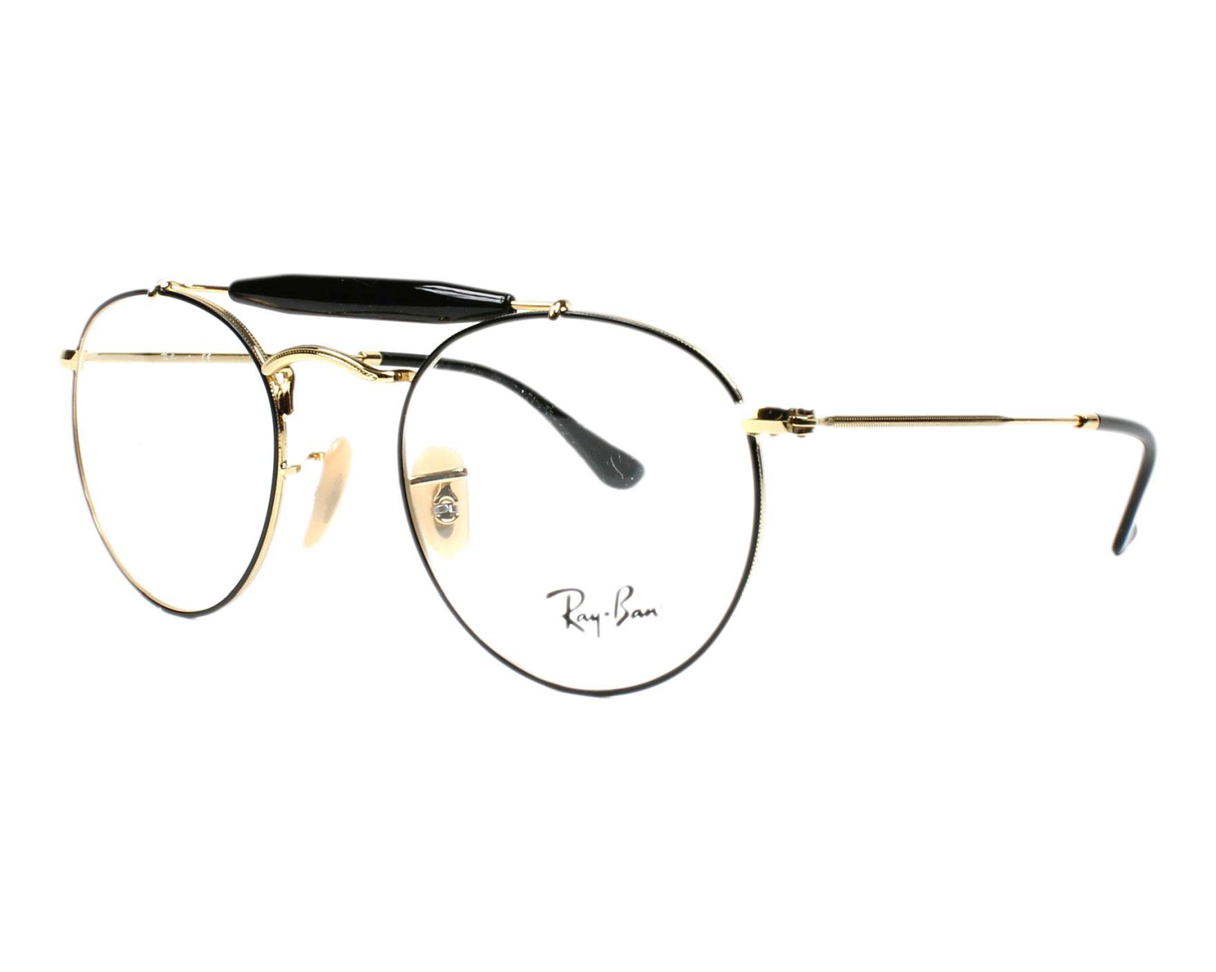 7d6e0470ee eyeglasses Ray-Ban RX-3747-V 2946 47-21 Black Gold profile