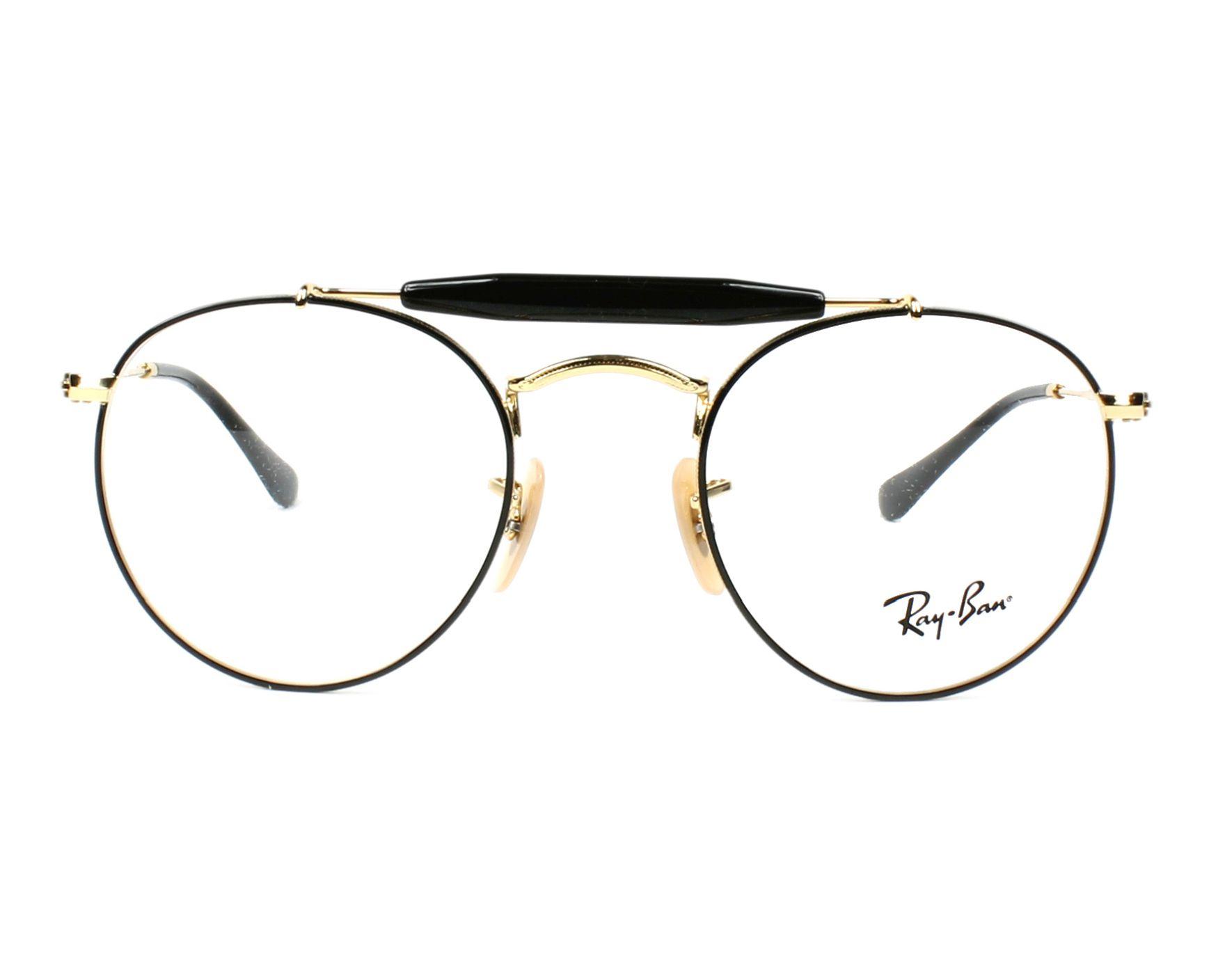 5591f4b581 eyeglasses Ray-Ban RX-3747-V 2946 47-21 Black Gold front