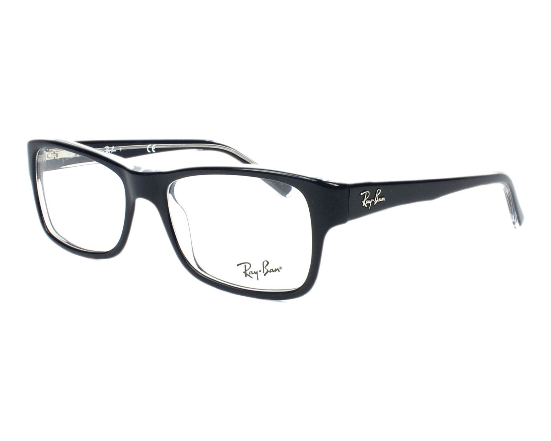 c6c7484d210ed eyeglasses Ray-Ban RX-5268 5739 50-17 Blue Crystal profile view