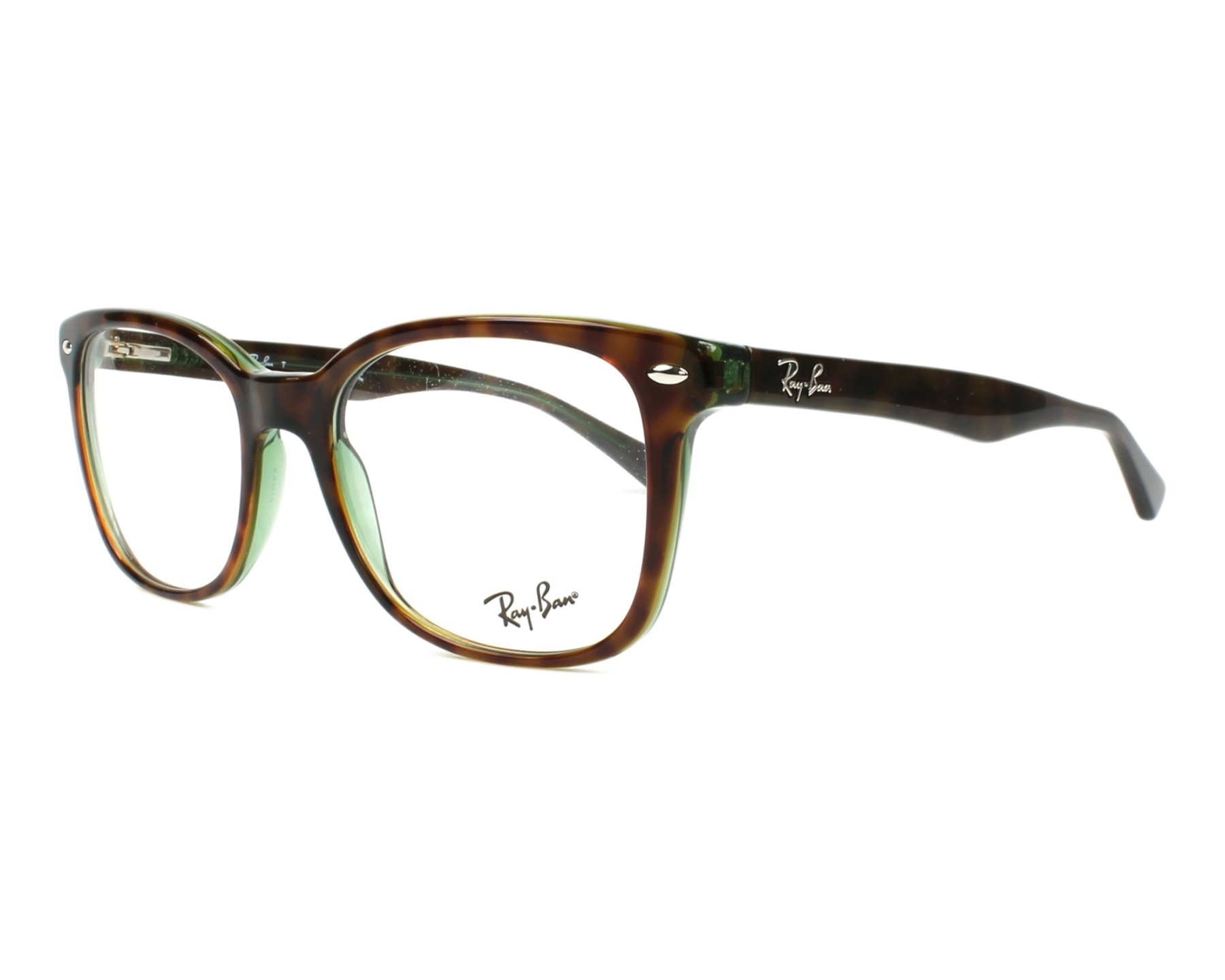 c2db1f557c2 eyeglasses Ray-Ban RX-5285 2383 53-19 Havana Green profile view