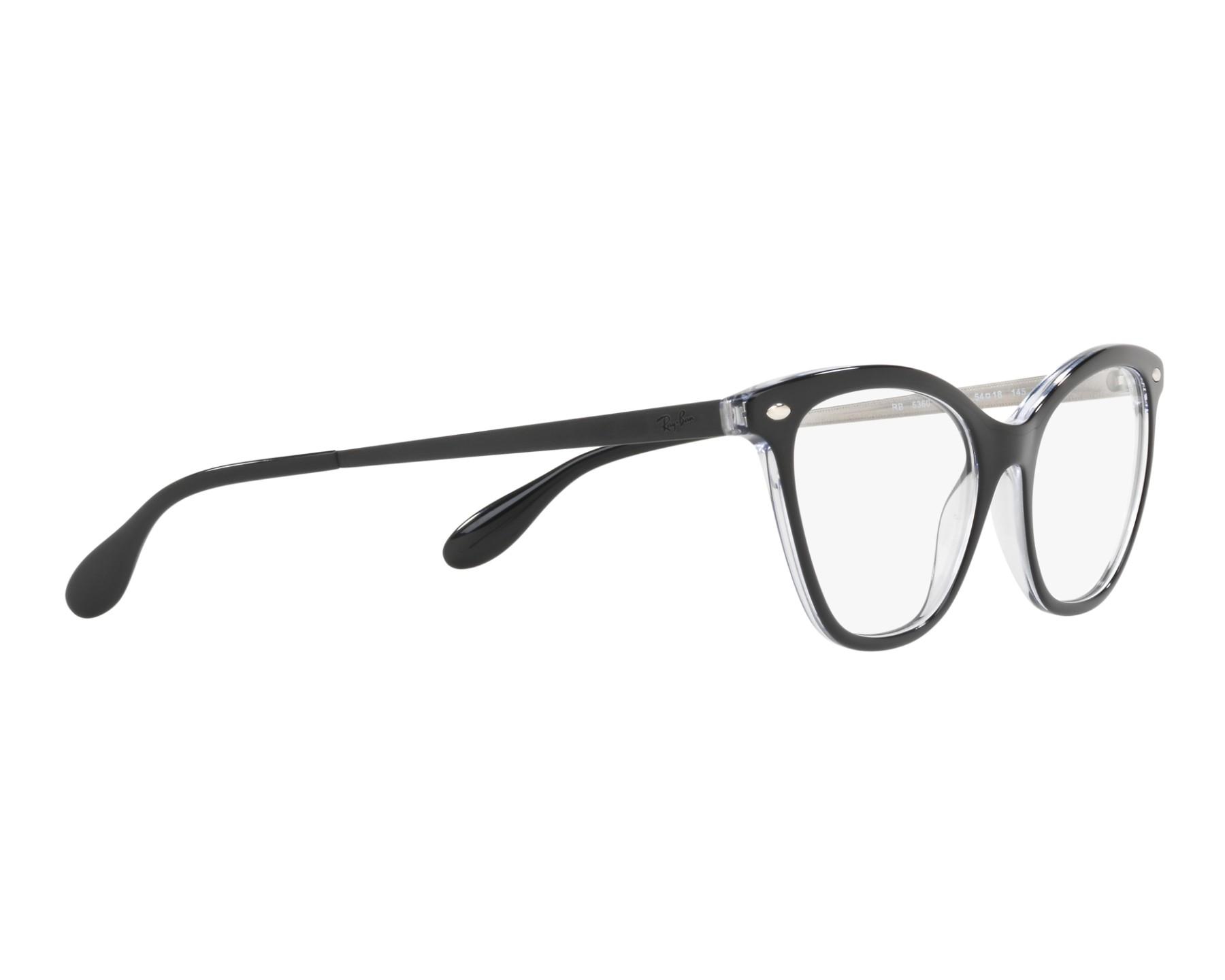 133e0c15ceb eyeglasses Ray-Ban RX-5360 2034 - Black 360 degree view 11