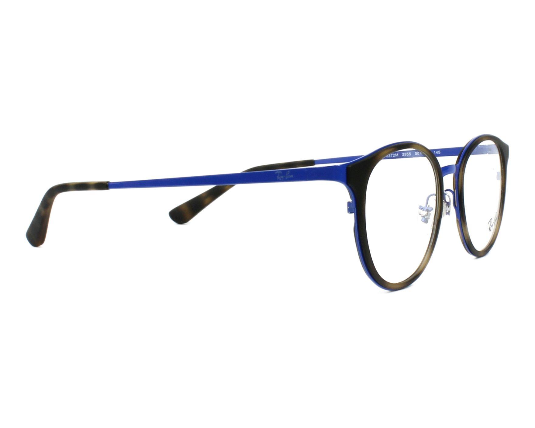 3f3f19538c2cf eyeglasses Ray-Ban RX-6372-M 2955 50-19 Blue Havana side