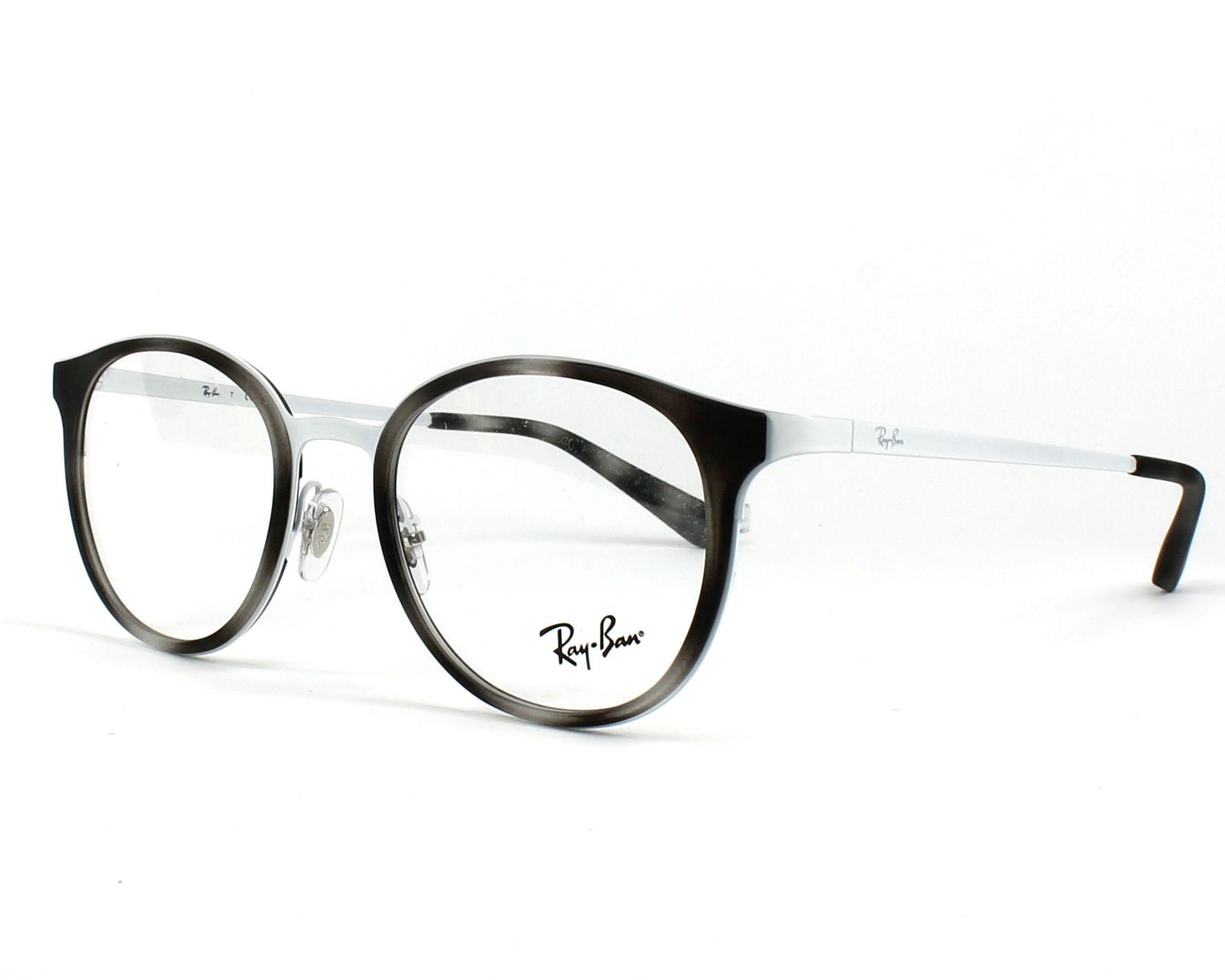 2cdd50a93d2 eyeglasses Ray-Ban RX-6372-M 2957 50-19 Grey White profile