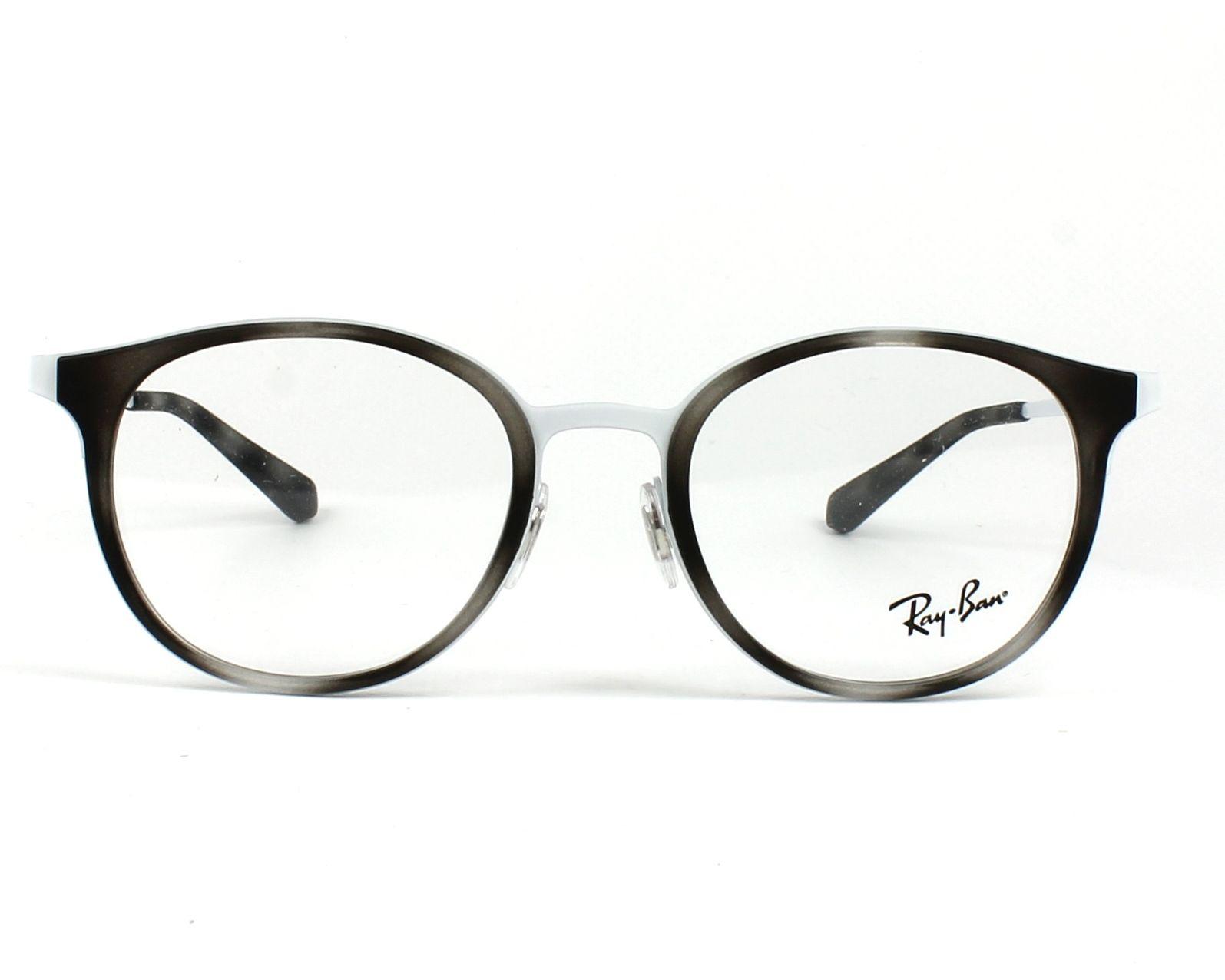 ffe7ce845cd eyeglasses Ray-Ban RX-6372-M 2957 50-19 Grey White front