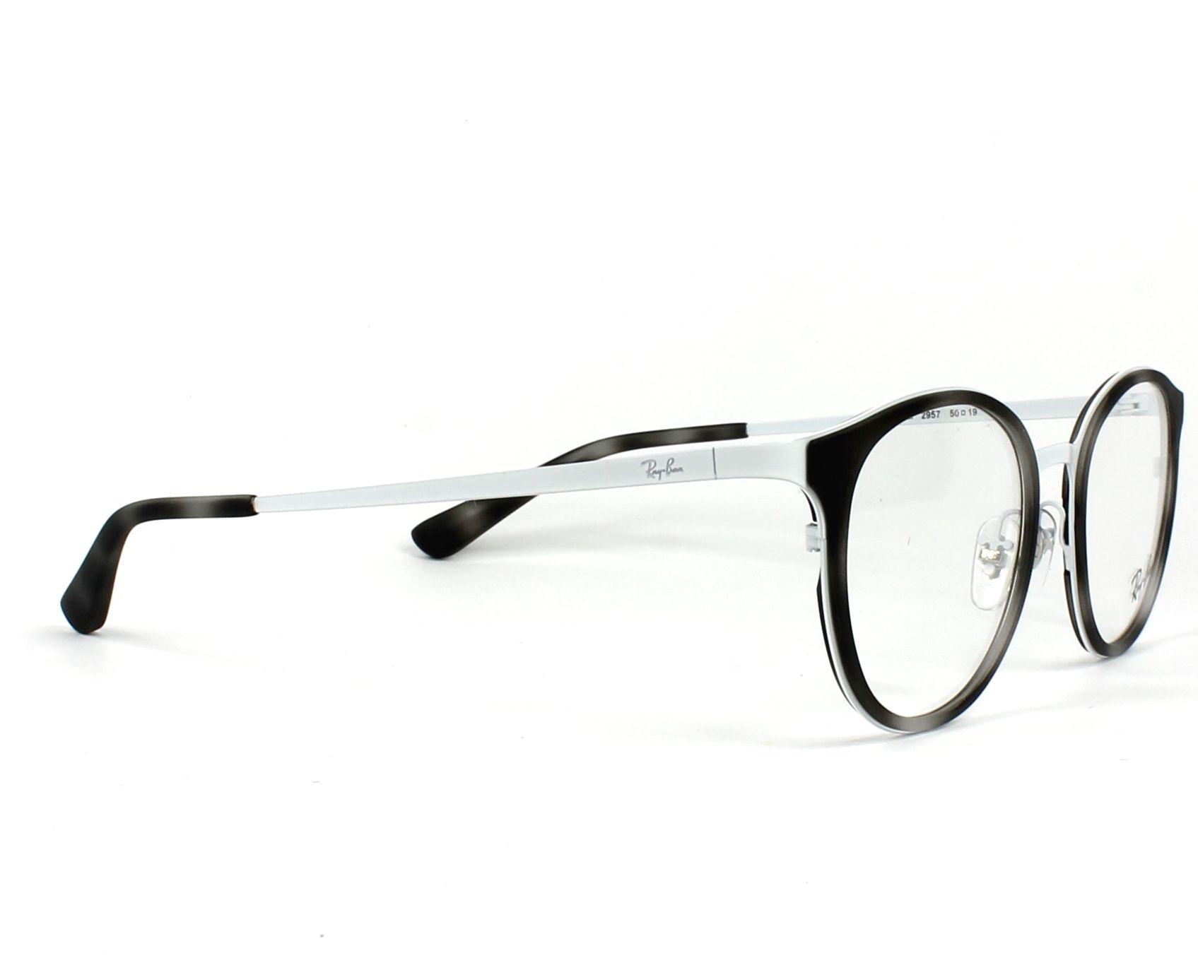 317ca293c483d eyeglasses Ray-Ban RX-6372-M 2957 50-19 Grey White side