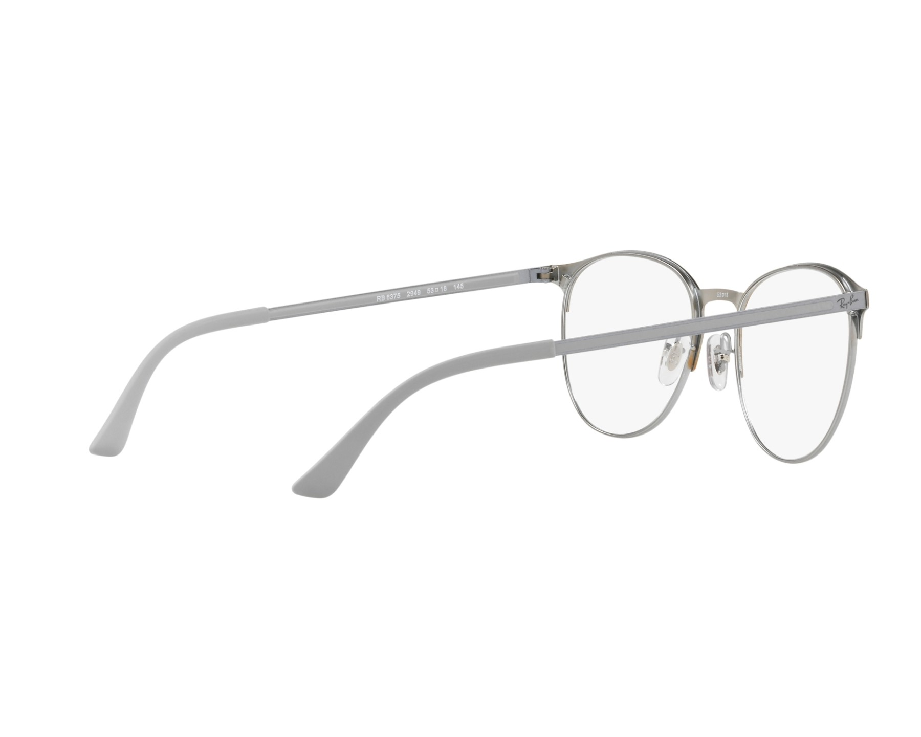 6562775b45 eyeglasses Ray-Ban RX-6375 2949 - Orange Silver 360 degree view 9