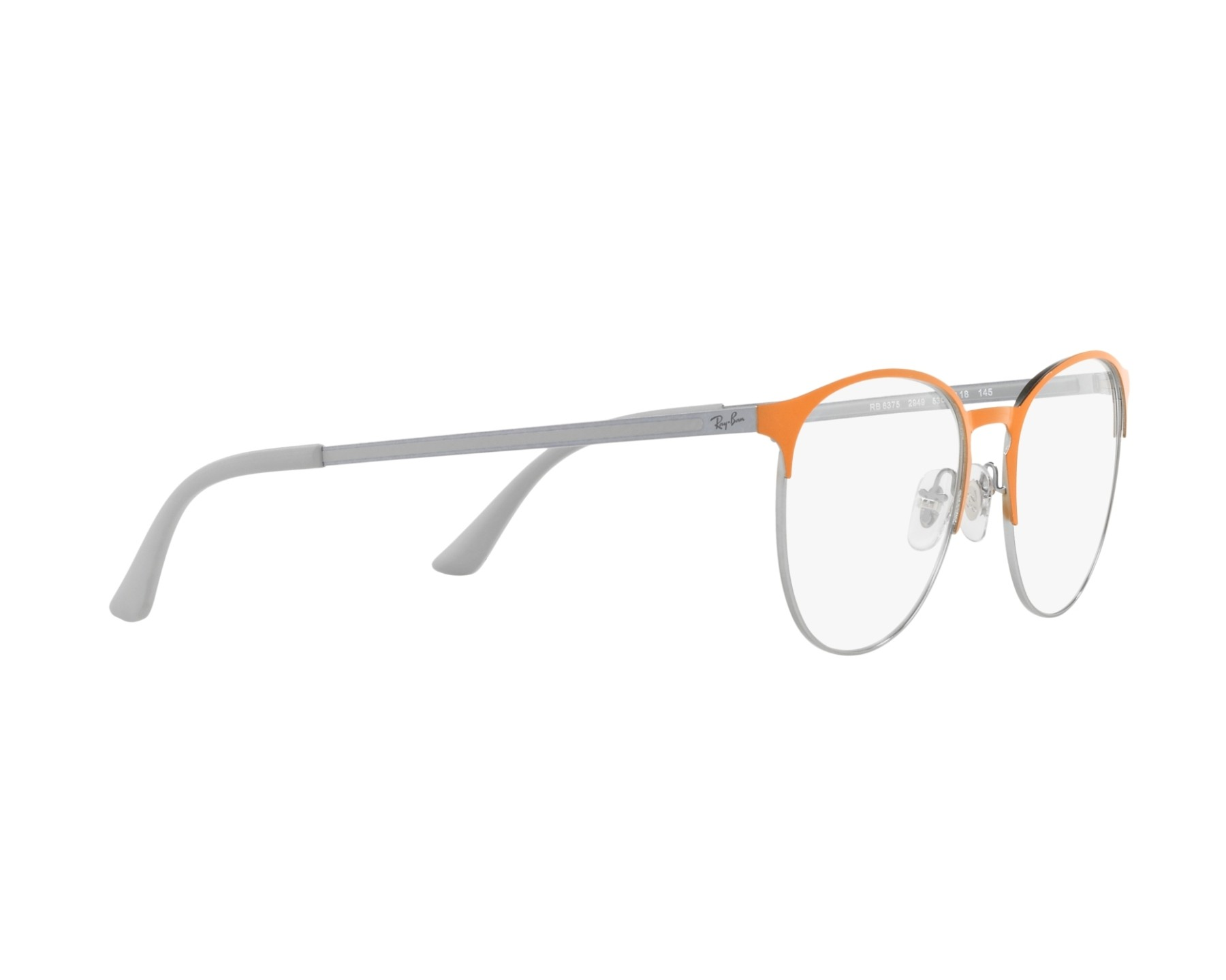 bbc1891288 eyeglasses Ray-Ban RX-6375 2949 - Orange Silver 360 degree view 11
