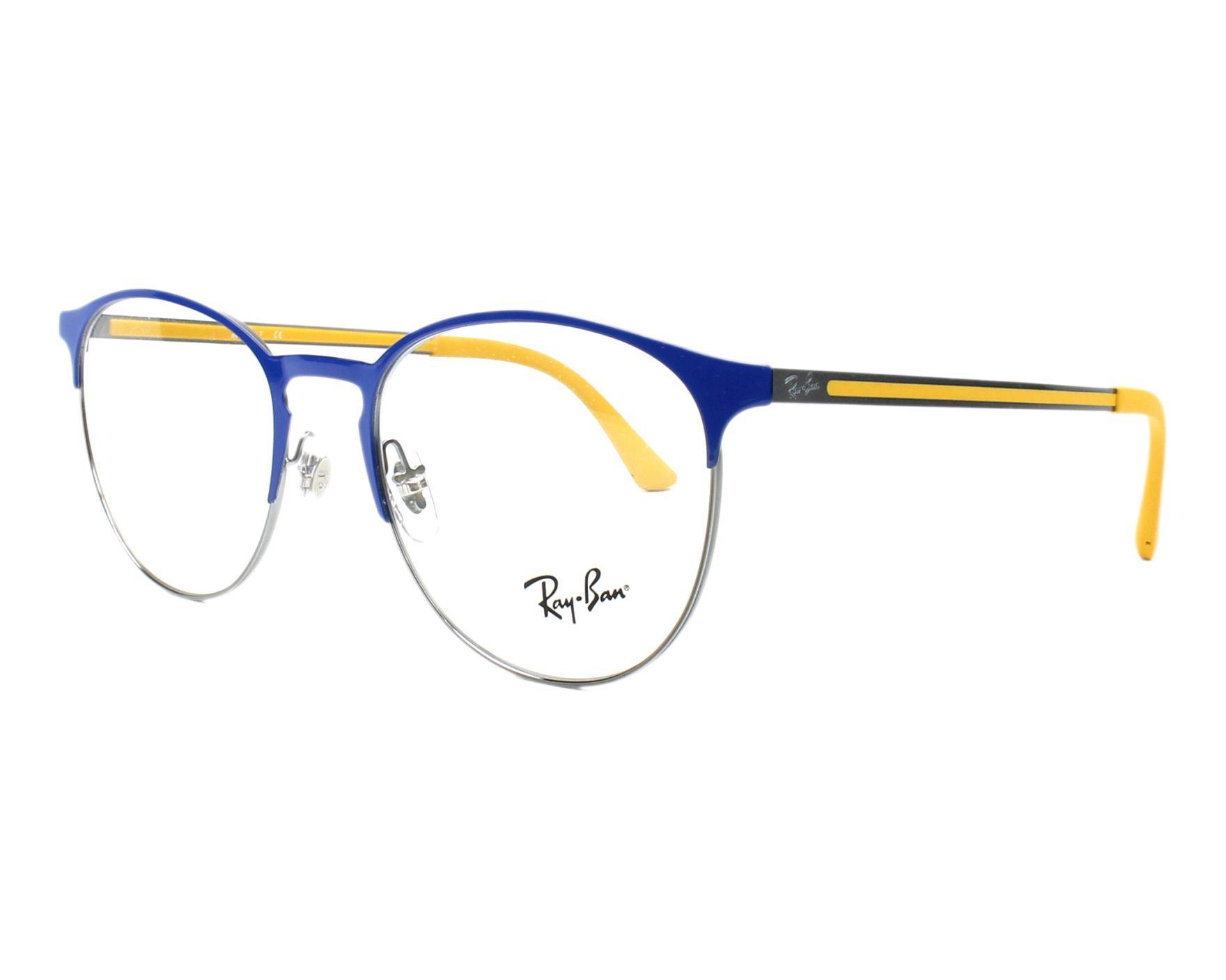 aaf72e8969 eyeglasses Ray-Ban RX-6375 2950 51-18 Blue Gun profile view