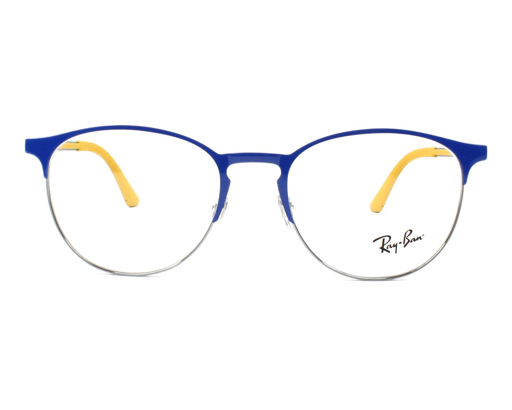 b9ef67d59d eyeglasses Ray-Ban RX-6375 2950 51-18 Blue Gun front view