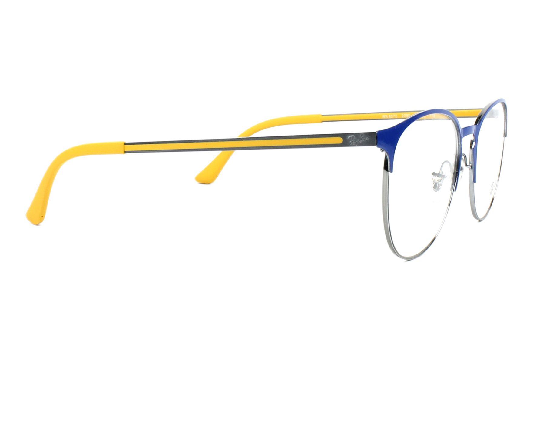 9da029b70f eyeglasses Ray-Ban RX-6375 2950 51-18 Blue Gun side view