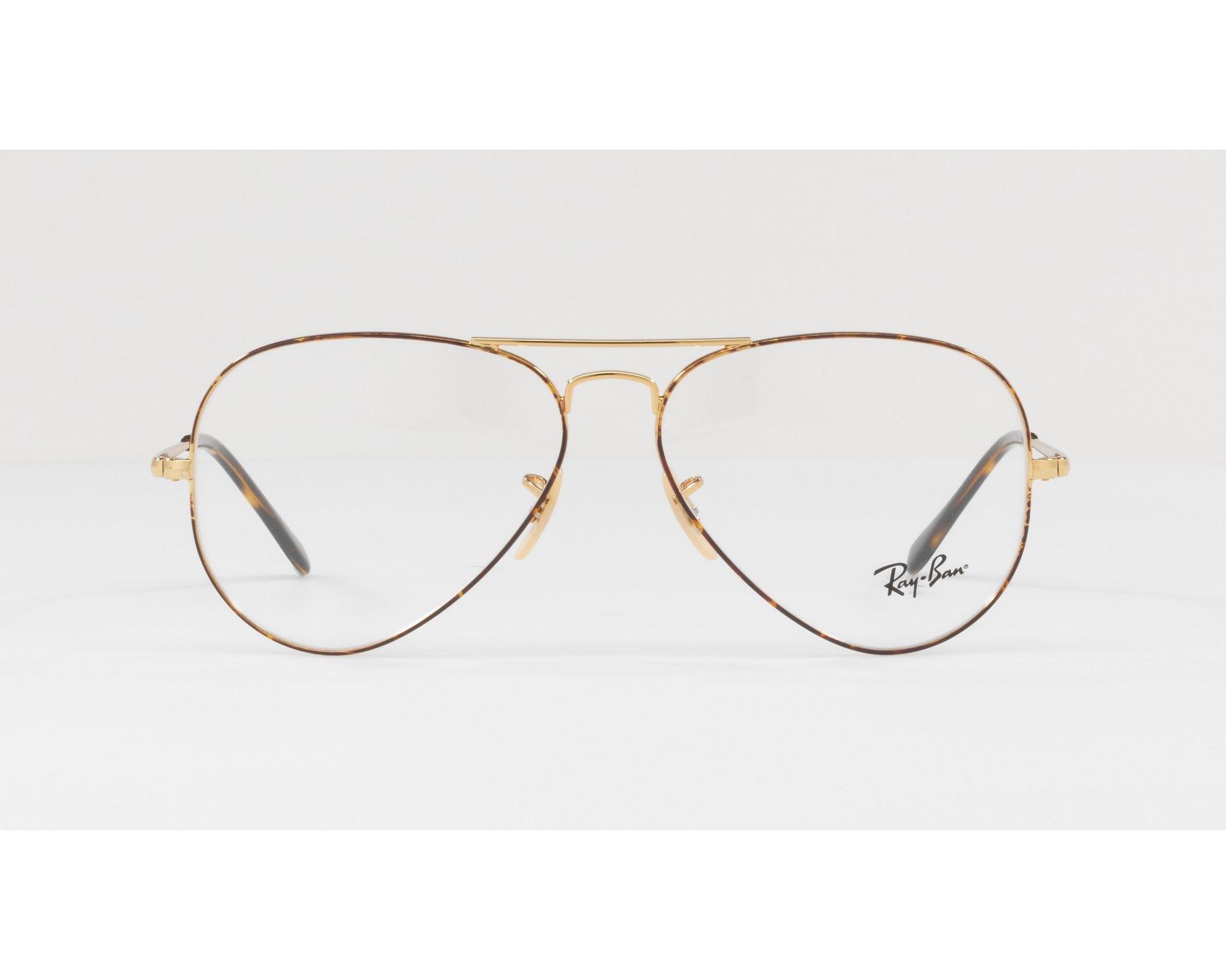 1f2bdbf8a1ff3 eyeglasses Ray-Ban RX-6489 2945 55-14 Havana Gold 360 degree view