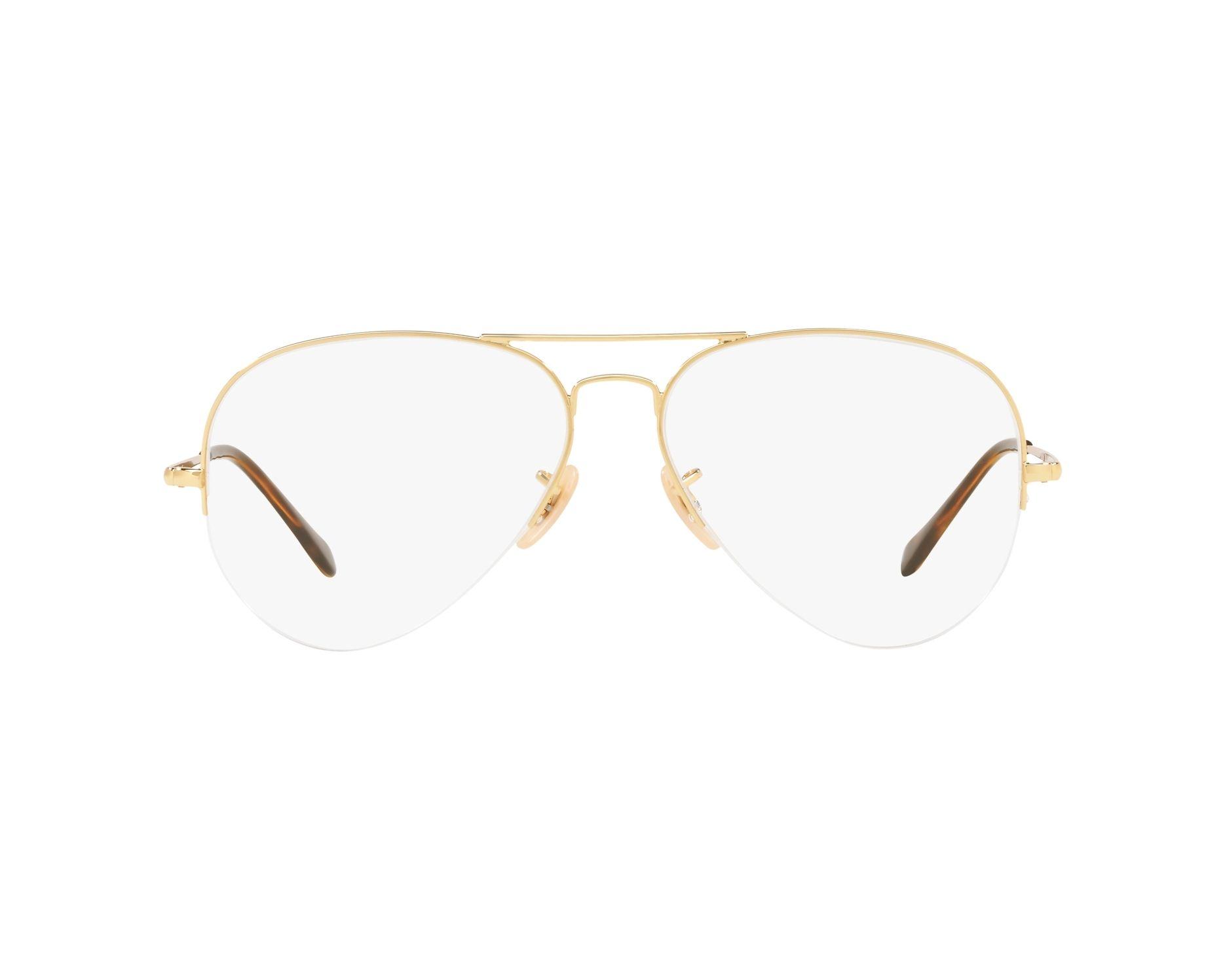 b8b17547cb35 eyeglasses Ray-Ban RX-6589 2500 56-15 Gold 360 degree view 1