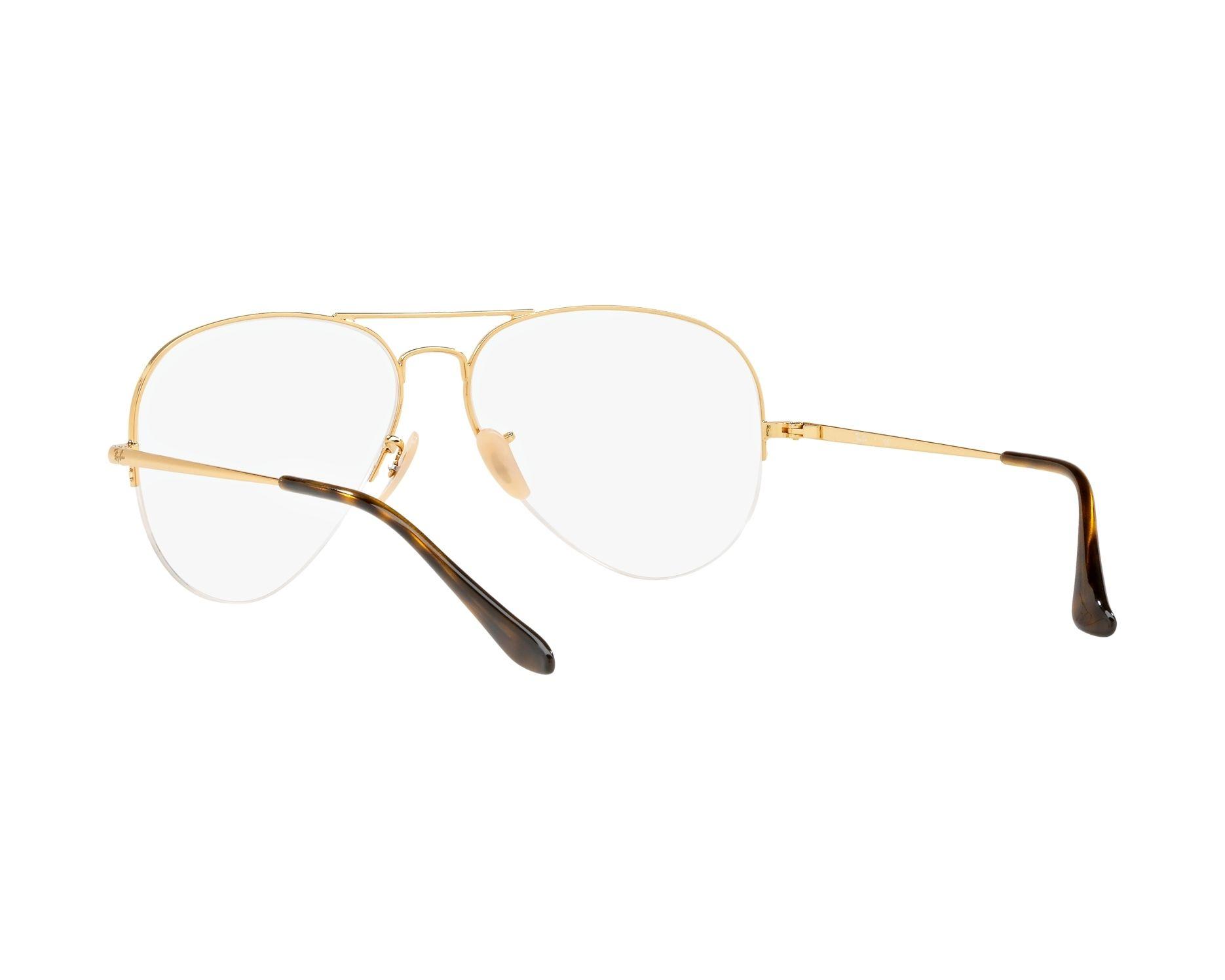 30bfcfb814e7 eyeglasses Ray-Ban RX-6589 2500 56-15 Gold 360 degree view 6