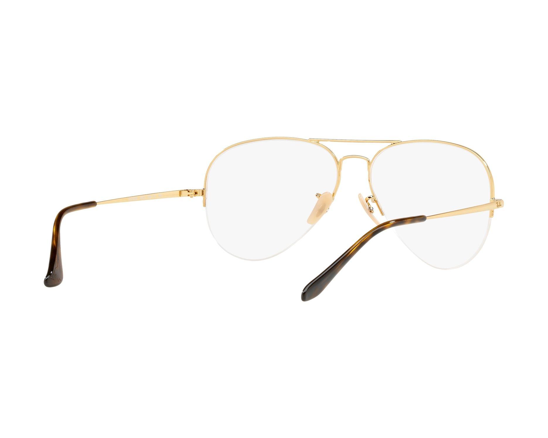 1ffd394ec0e3 eyeglasses Ray-Ban RX-6589 2500 56-15 Gold 360 degree view 8