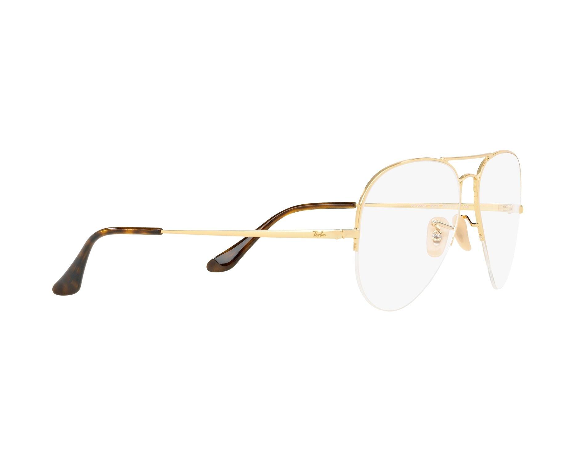 9c3006e8fc9e eyeglasses Ray-Ban RX-6589 2500 56-15 Gold 360 degree view 11