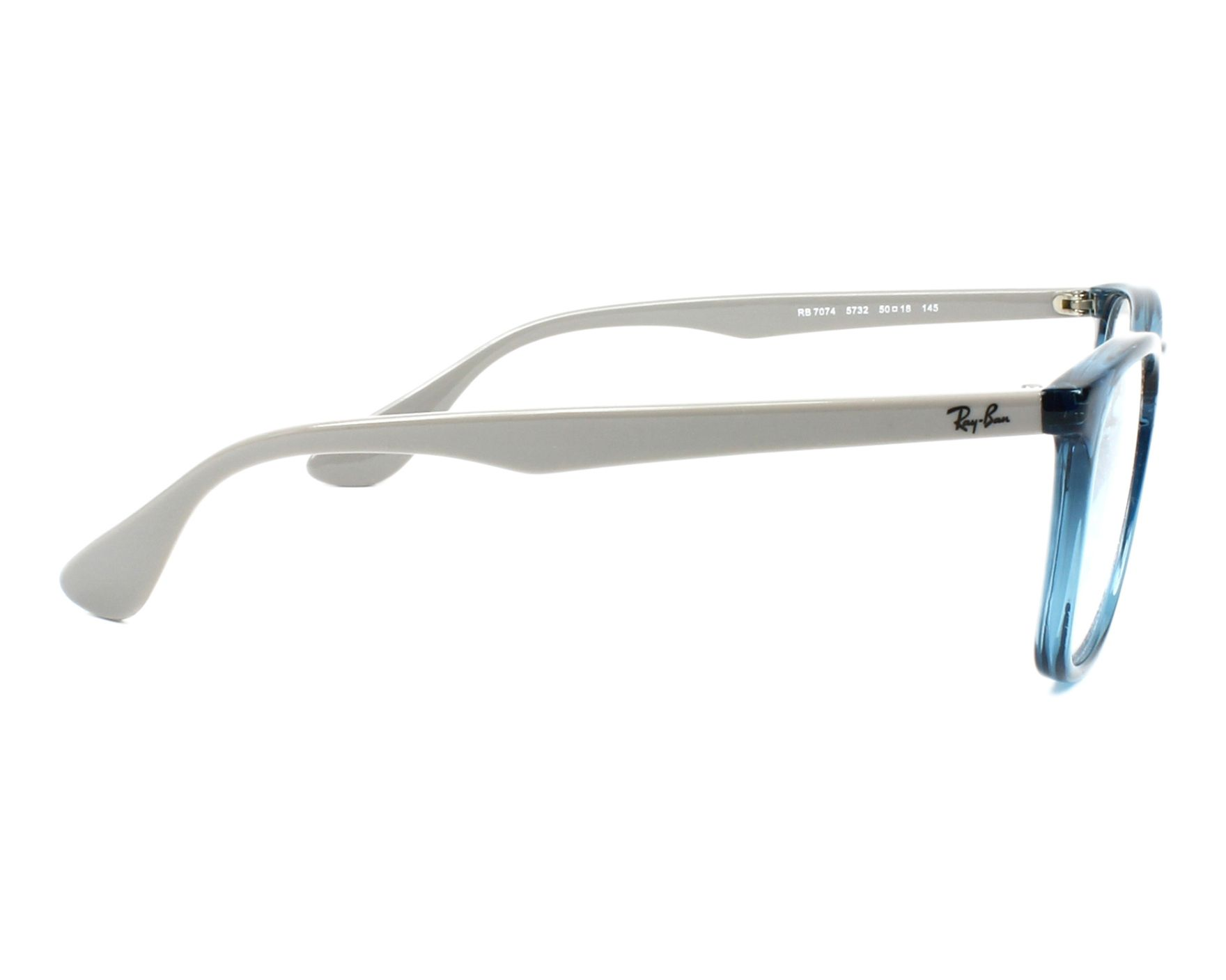 d543f1129c eyeglasses Ray-Ban RX-7074 5732 - Blue Grey side view