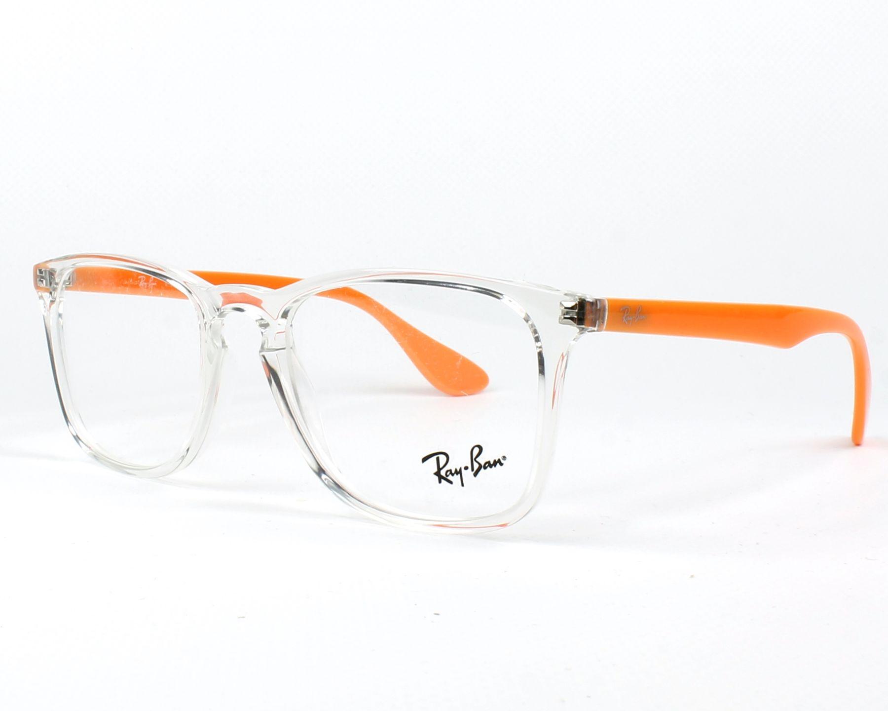 5167d76cb1e eyeglasses Ray-Ban RX-7074 5736 50-18 Crystal Orange profile view