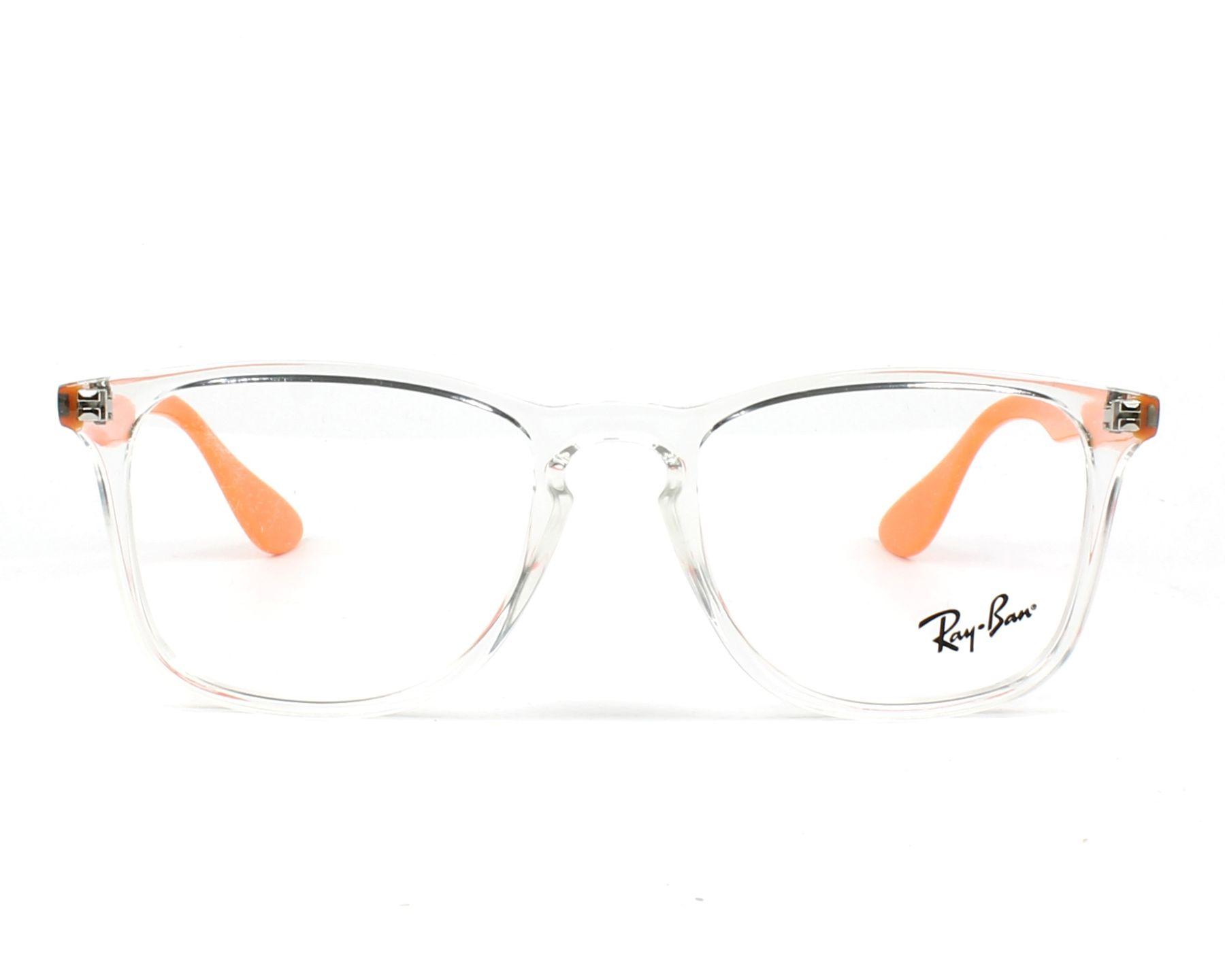 c616509c79b eyeglasses Ray-Ban RX-7074 5736 50-18 Crystal Orange front view