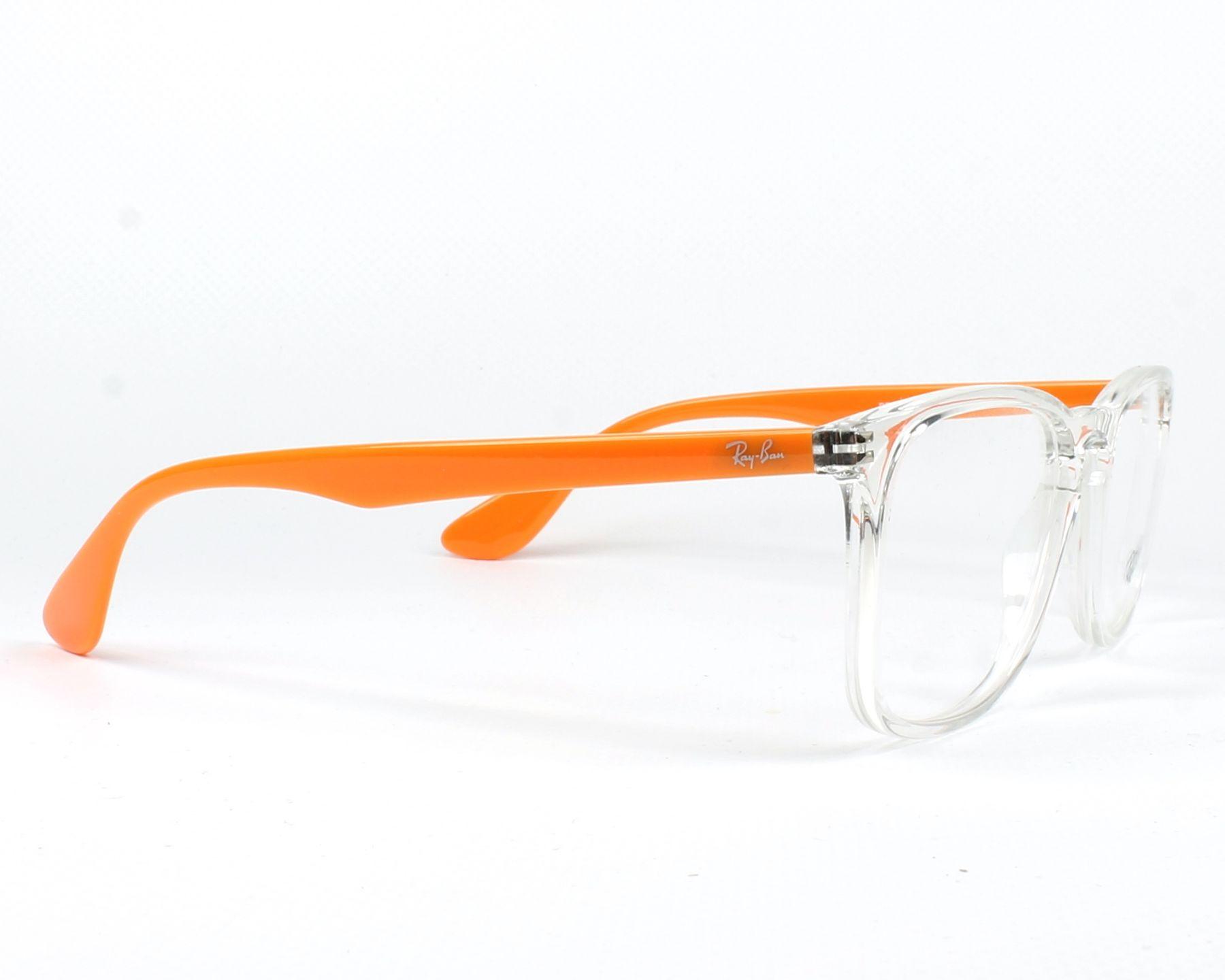 1ed74dd0605 eyeglasses Ray-Ban RX-7074 5736 50-18 Crystal Orange side view