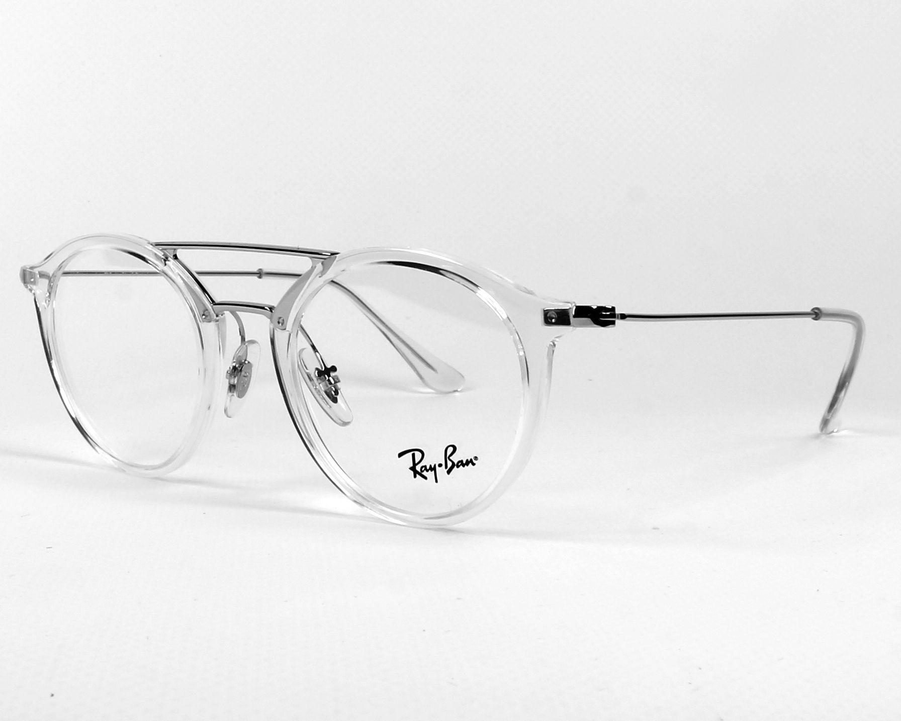 b7200f93c8c eyeglasses Ray-Ban RX-7097 2001 - Crystal Silver profile view
