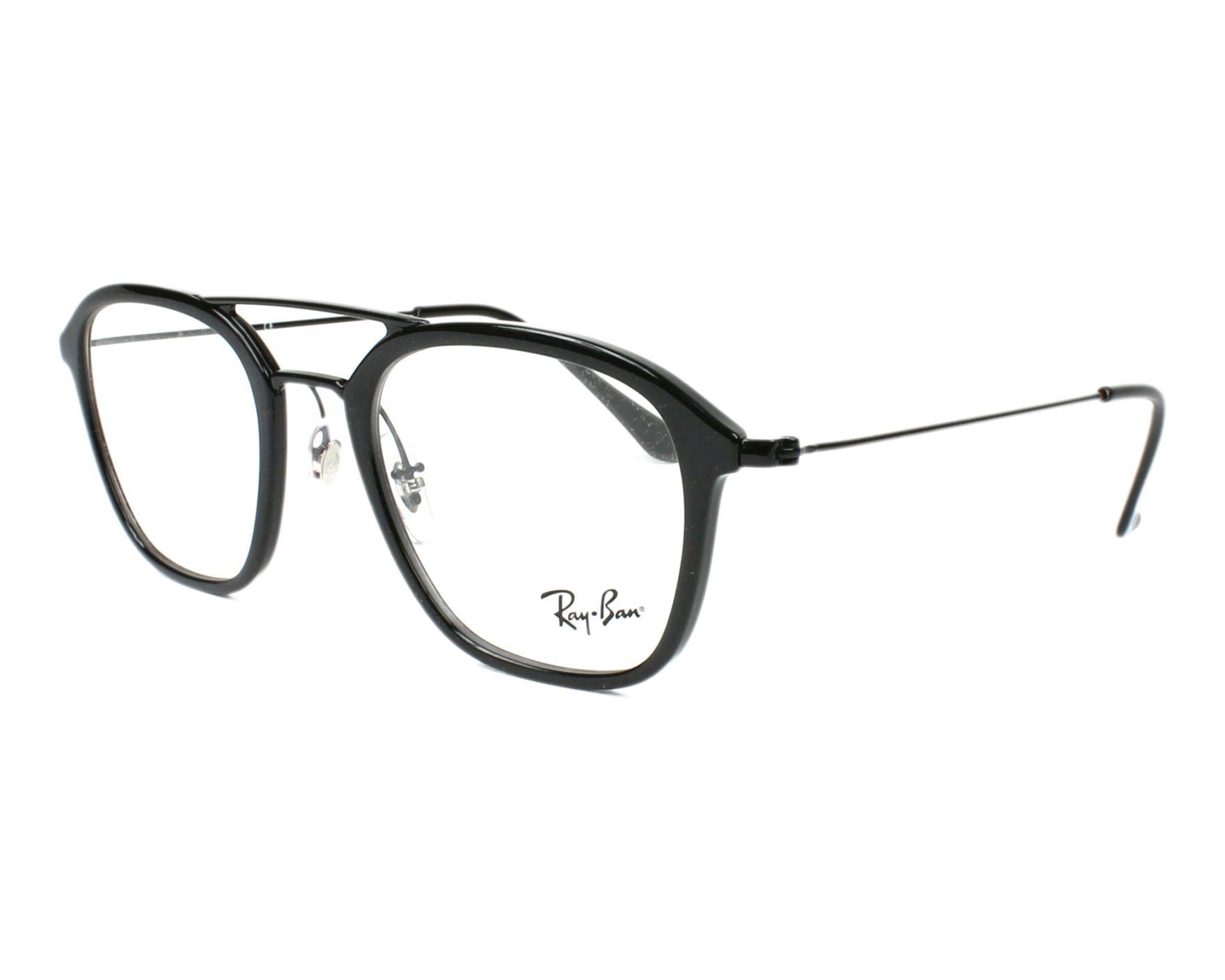 ba749c8a0f eyeglasses Ray-Ban RX-7098 5725 48-21 Black profile view