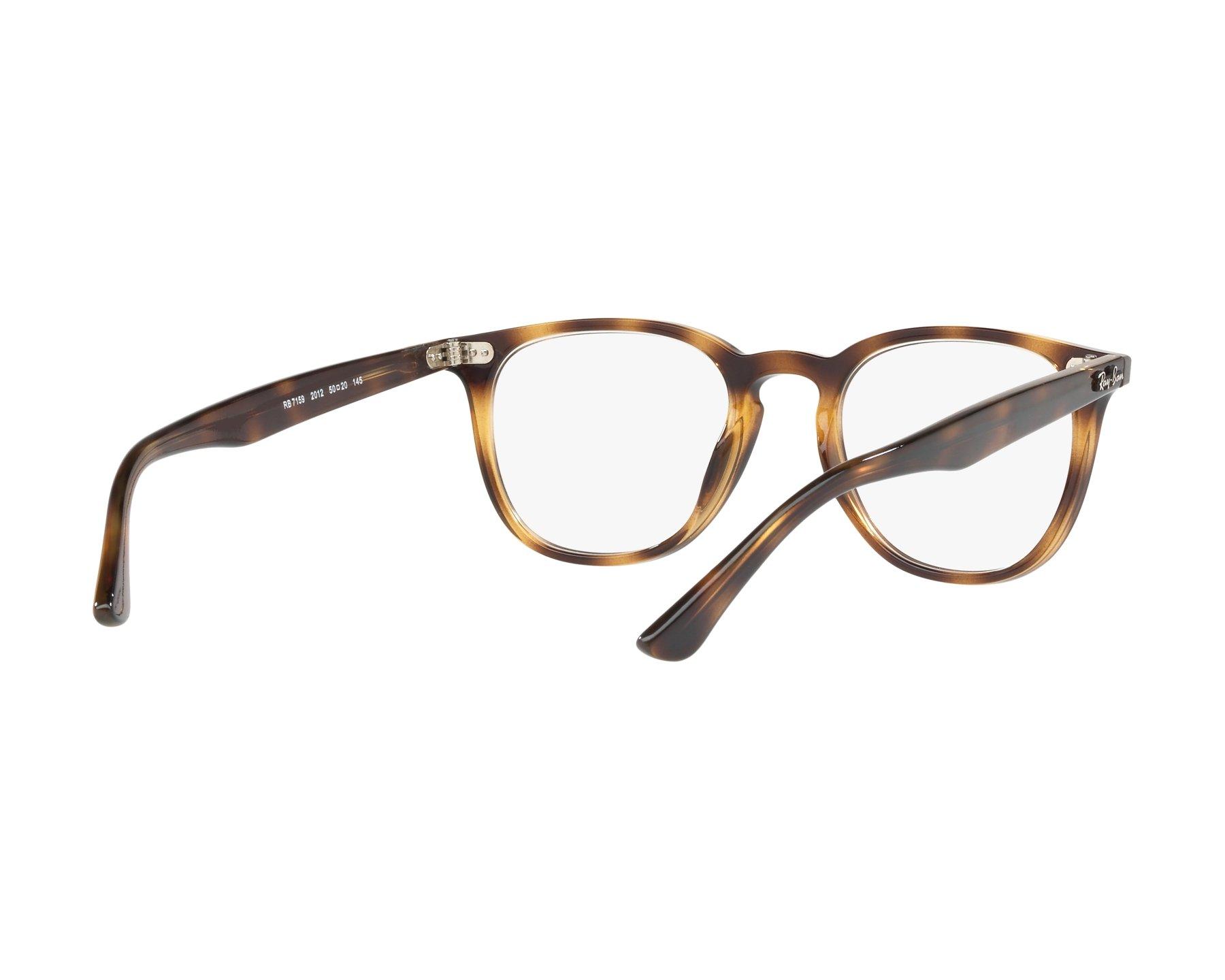 9f185b3c1e4 eyeglasses Ray-Ban RX-7159 2012 50-20 Havana 360 degree view 8